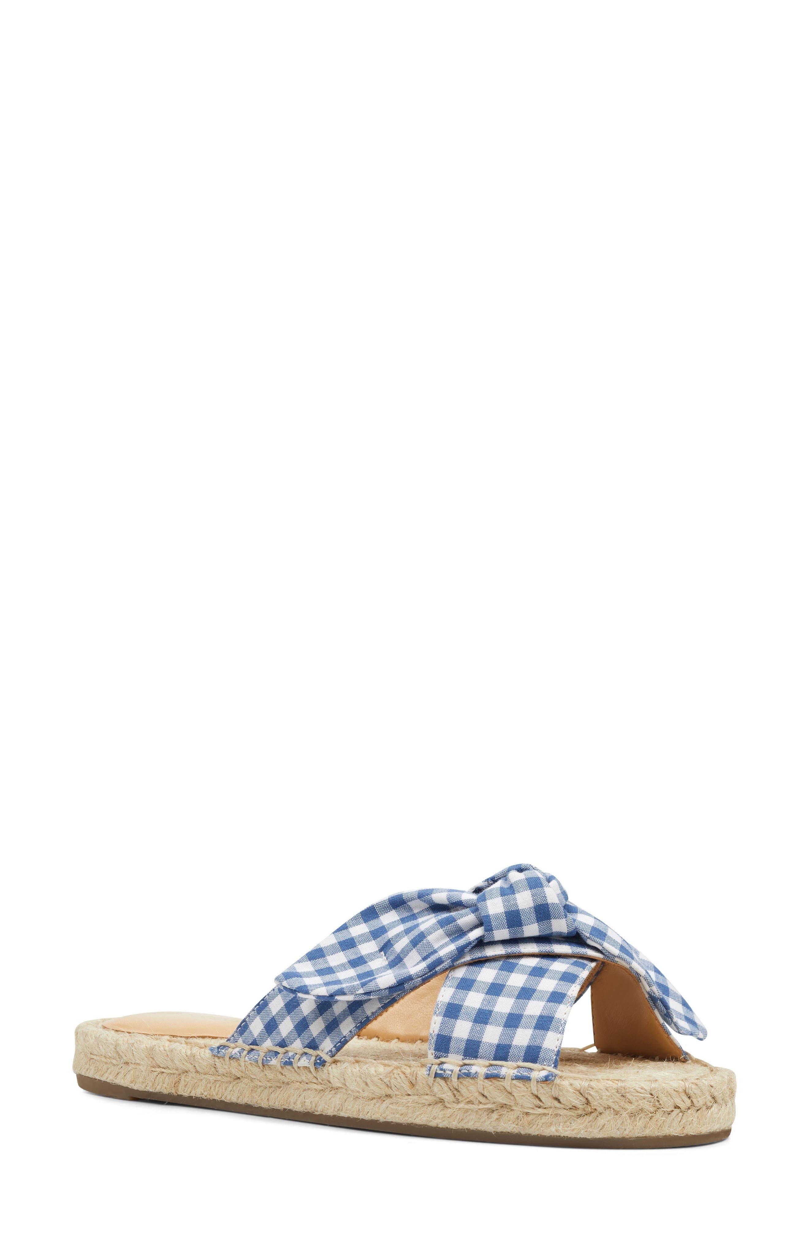 Nine West Brielle Espadrille Slide Sandal, Blue