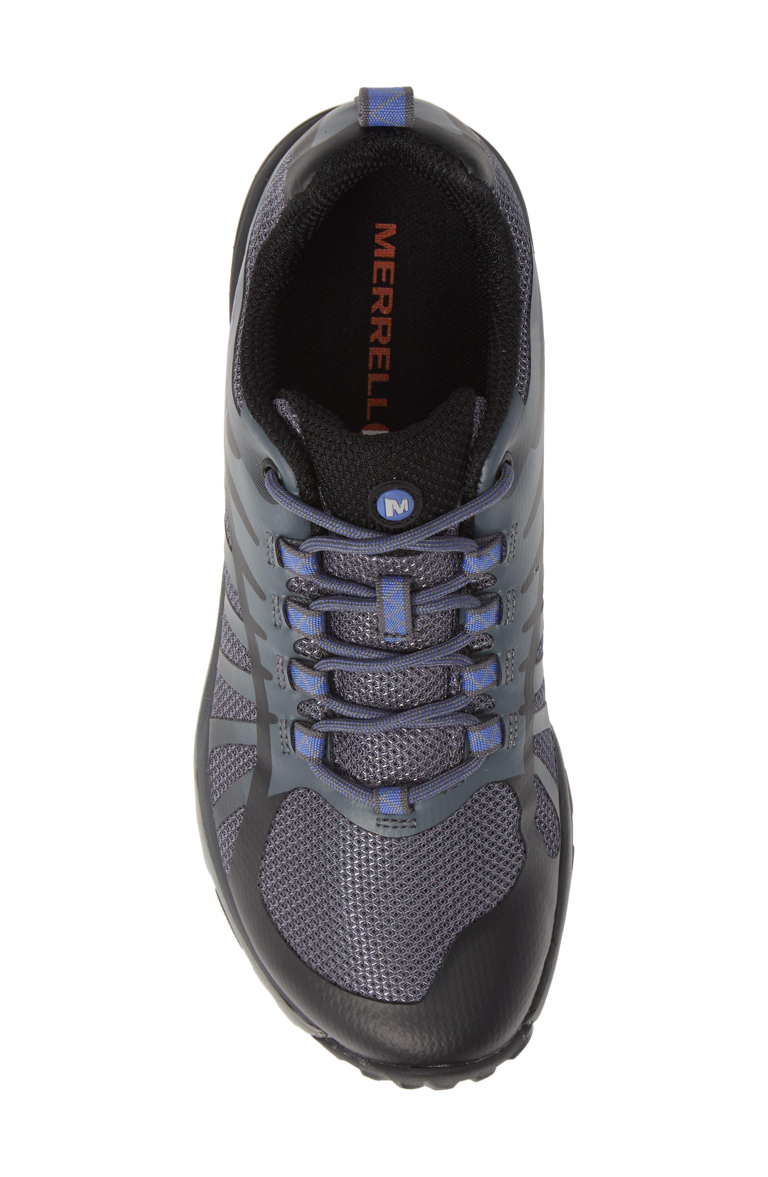 MERRELL, Siren Edge Q2 Hiking Shoe, Alternate thumbnail 5, color, BLACK FABRIC