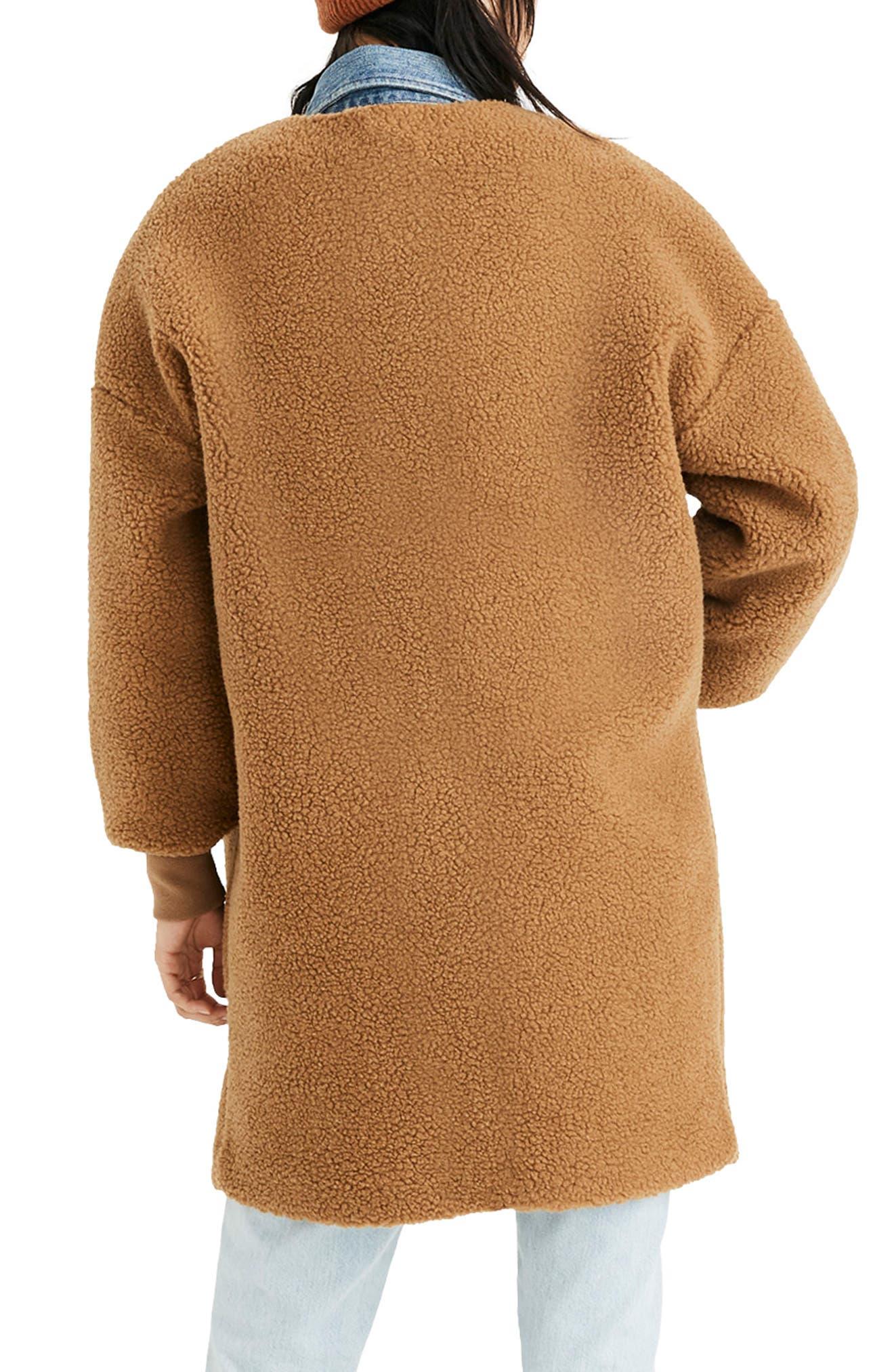 MADEWELL, Bonded Fleece Cocoon Coat, Alternate thumbnail 2, color, 200