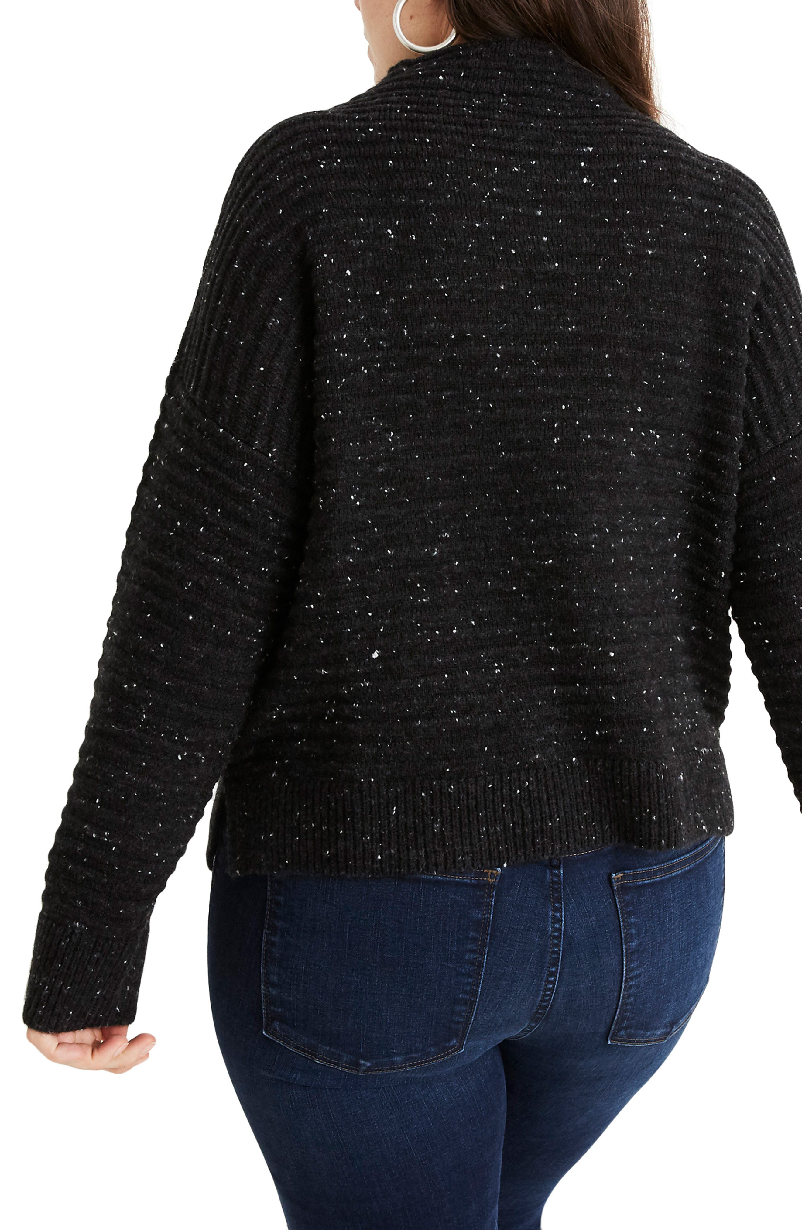 MADEWELL, Belmont Donegal Mock Neck Sweater, Alternate thumbnail 7, color, 020