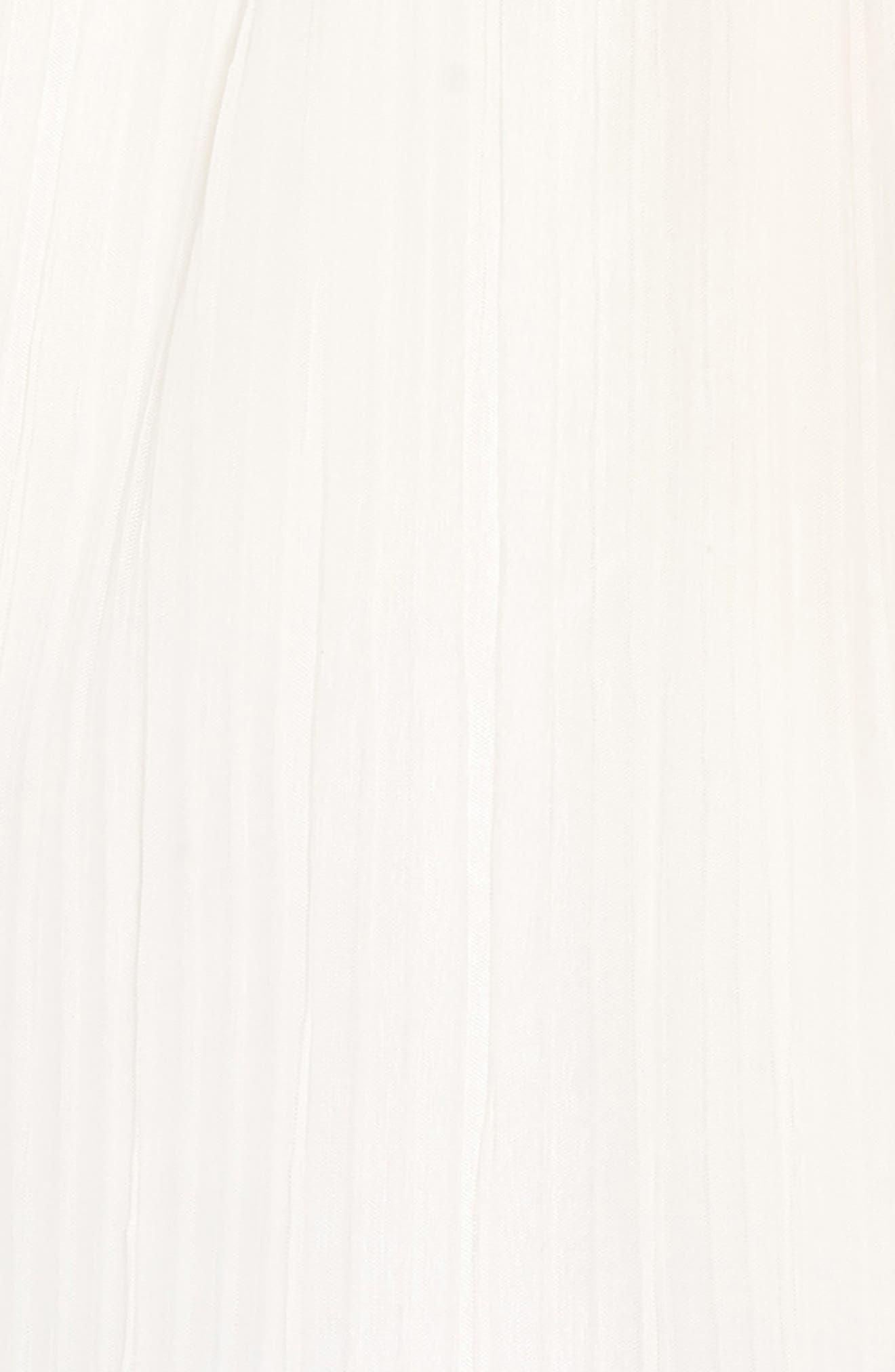 AVA & YELLY, Plissé Mesh Dress, Alternate thumbnail 3, color, IVORY