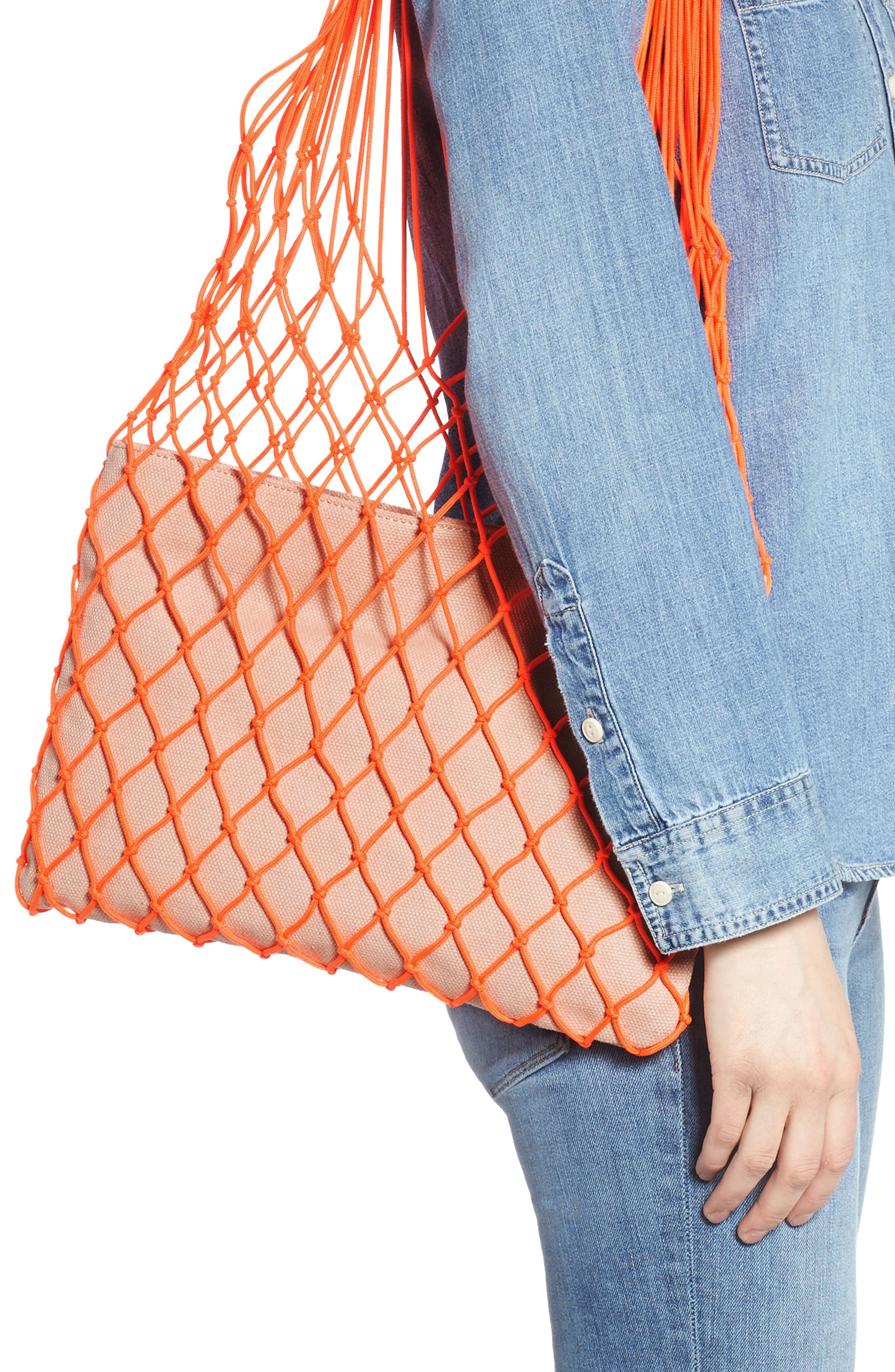 VINCE CAMUTO, Zest Tote, Alternate thumbnail 2, color, FIERY CORAL