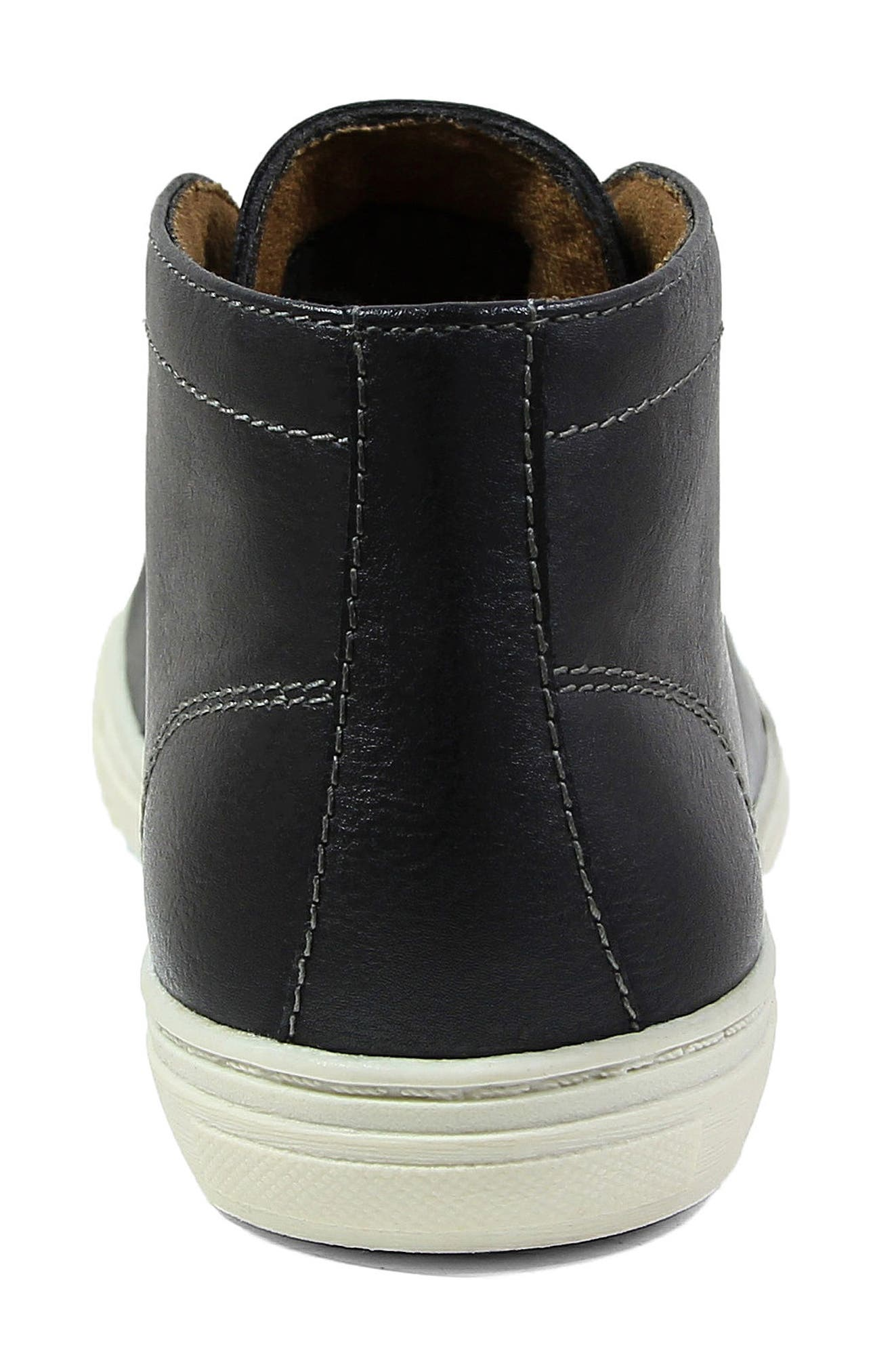 FLORSHEIM, Curb Chukka Sneaker Boot, Alternate thumbnail 6, color, 001