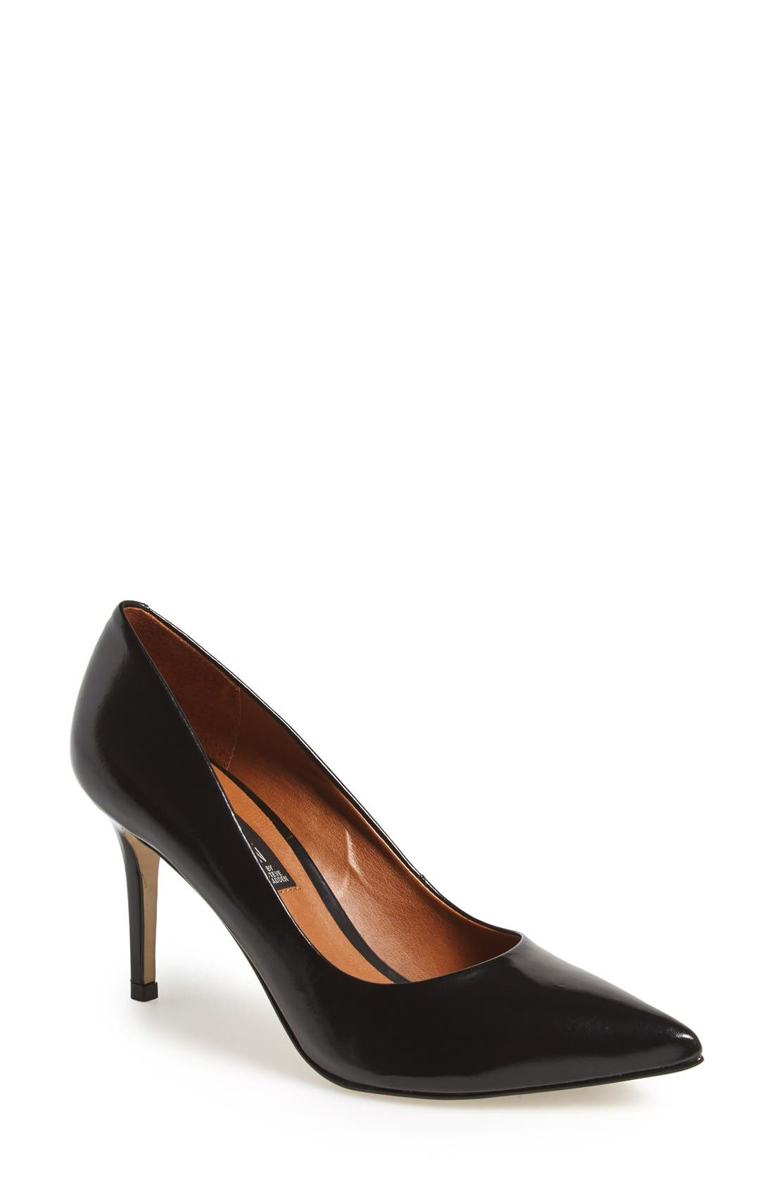 STEVEN BY STEVE MADDEN, 'Shiela' Pointy Toe Pump, Main thumbnail 1, color, 001