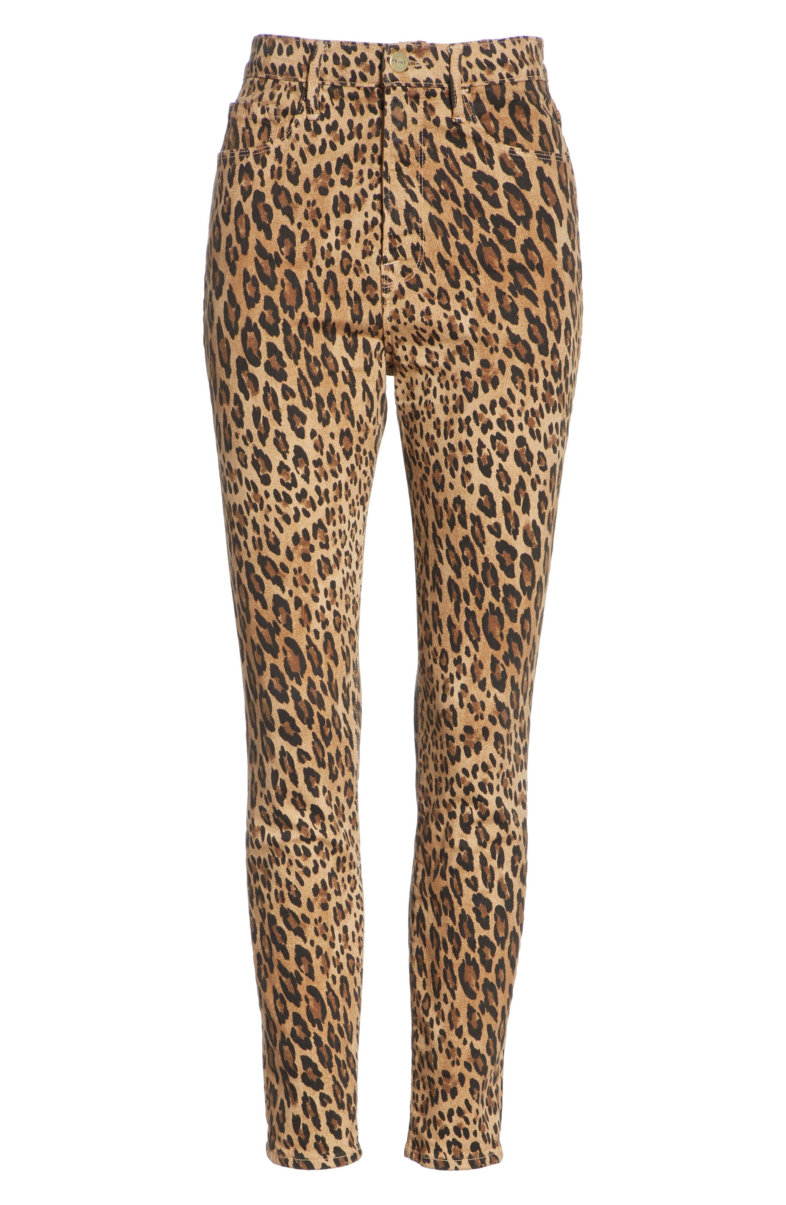 FRAME, Ali High Waist Cigarette Skinny Jeans, Alternate thumbnail 6, color, CAMEL MULTI