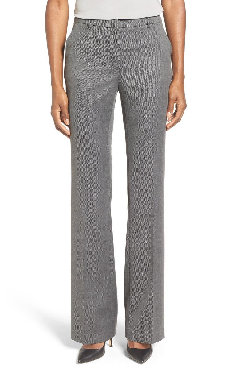 7a5e453d3 ELLEN TRACY Twill Bootcut Trousers, Main, color, 035