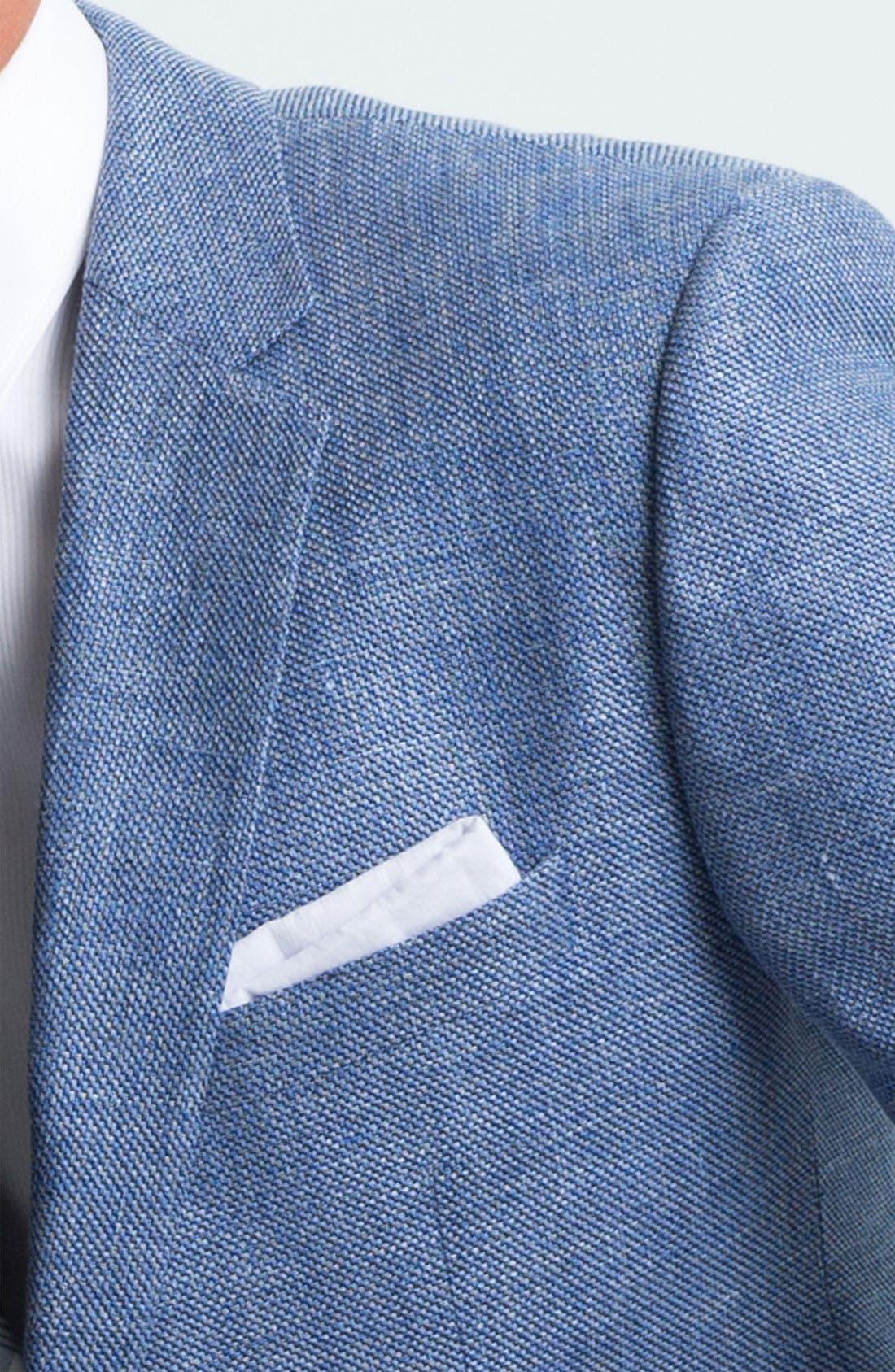 ZZDNUHUGO BOSS, BOSS Black 'Smith' Trim Fit Sportcoat, Alternate thumbnail 4, color, 440