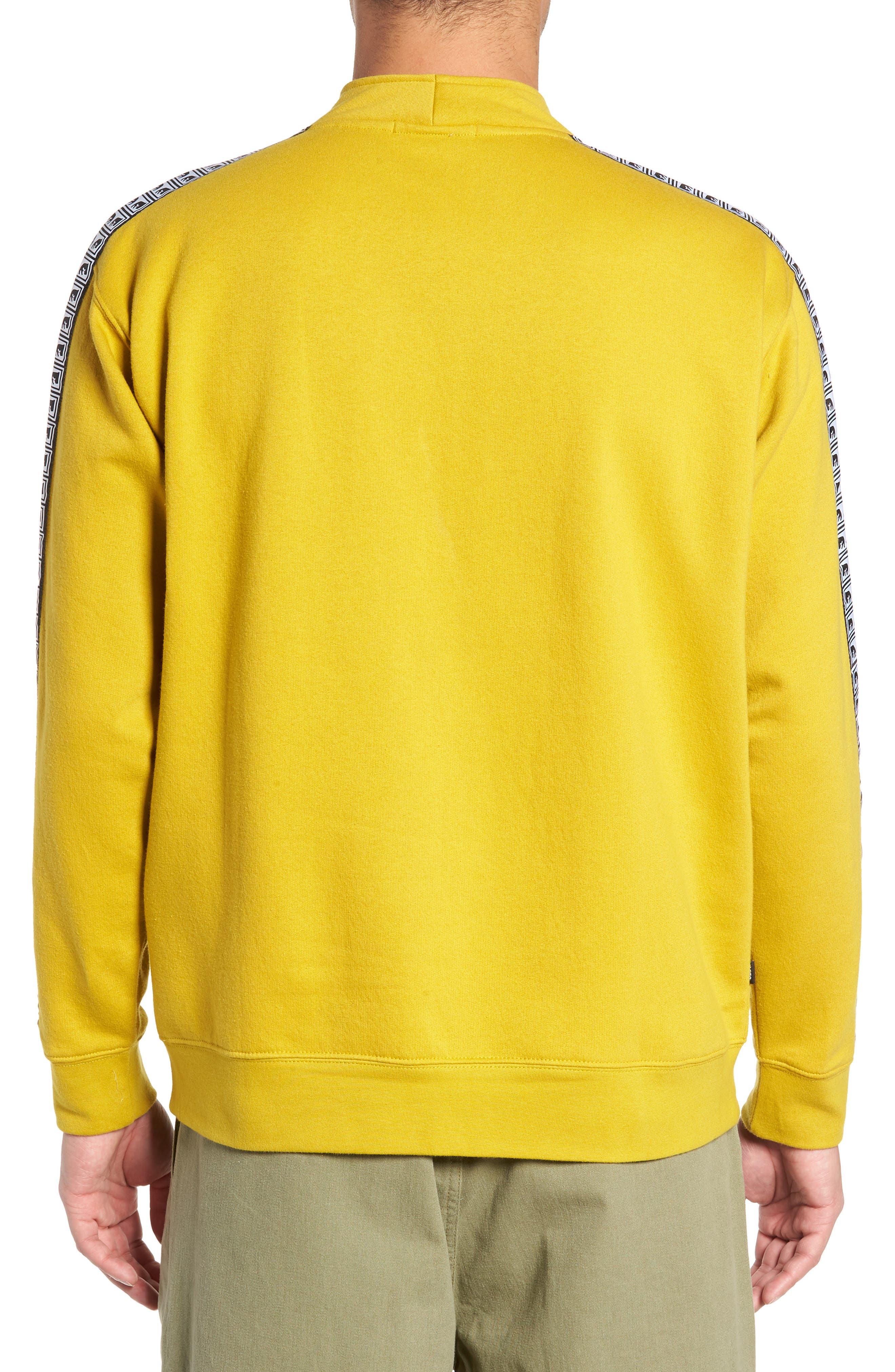 OBEY, Bridges Logo Tape Quarter Zip Pullover, Alternate thumbnail 2, color, 700