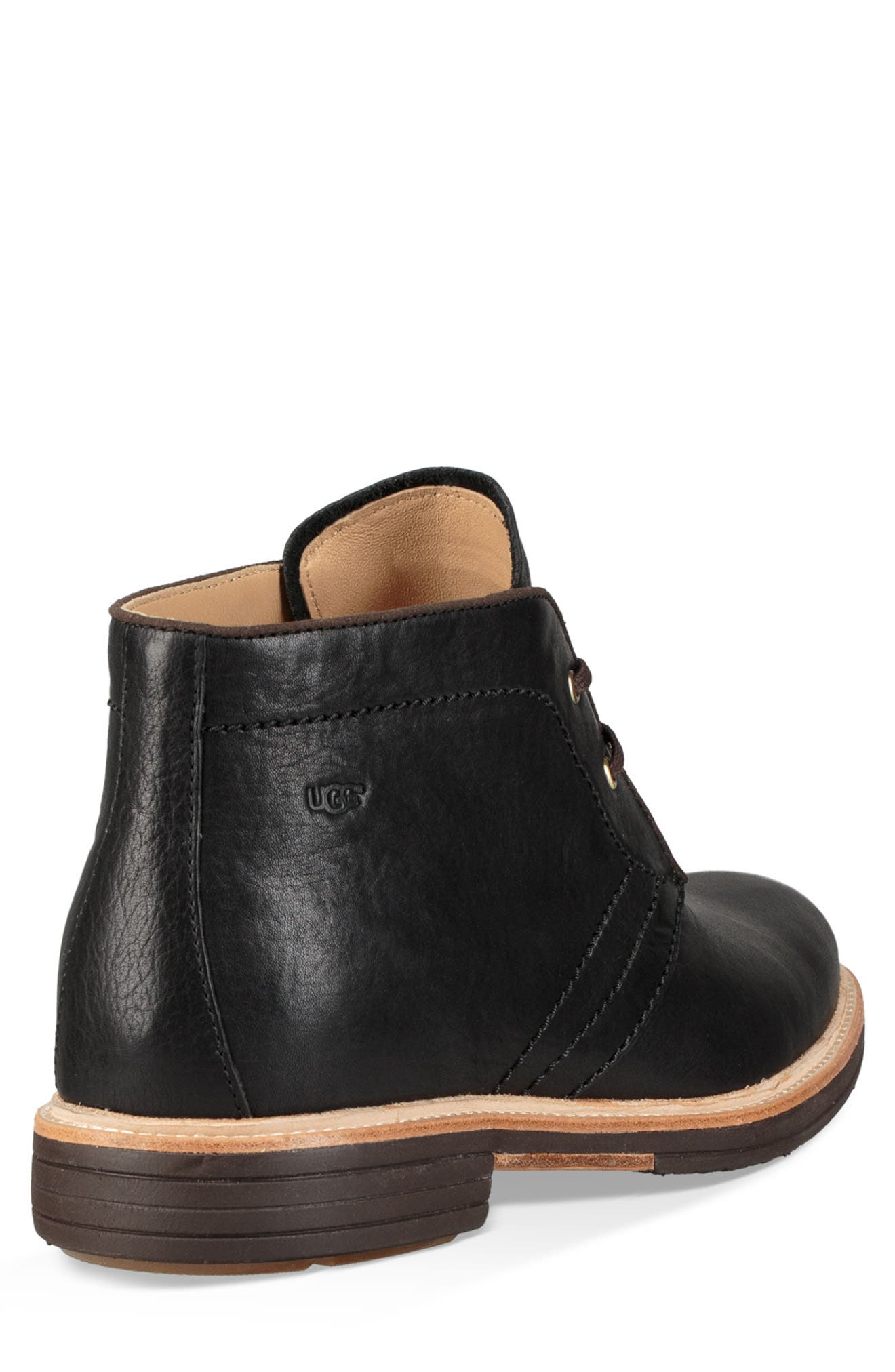 UGG<SUP>®</SUP>, Australia Dagmann Chukka Boot, Alternate thumbnail 2, color, BLACK LEATHER/SUEDE