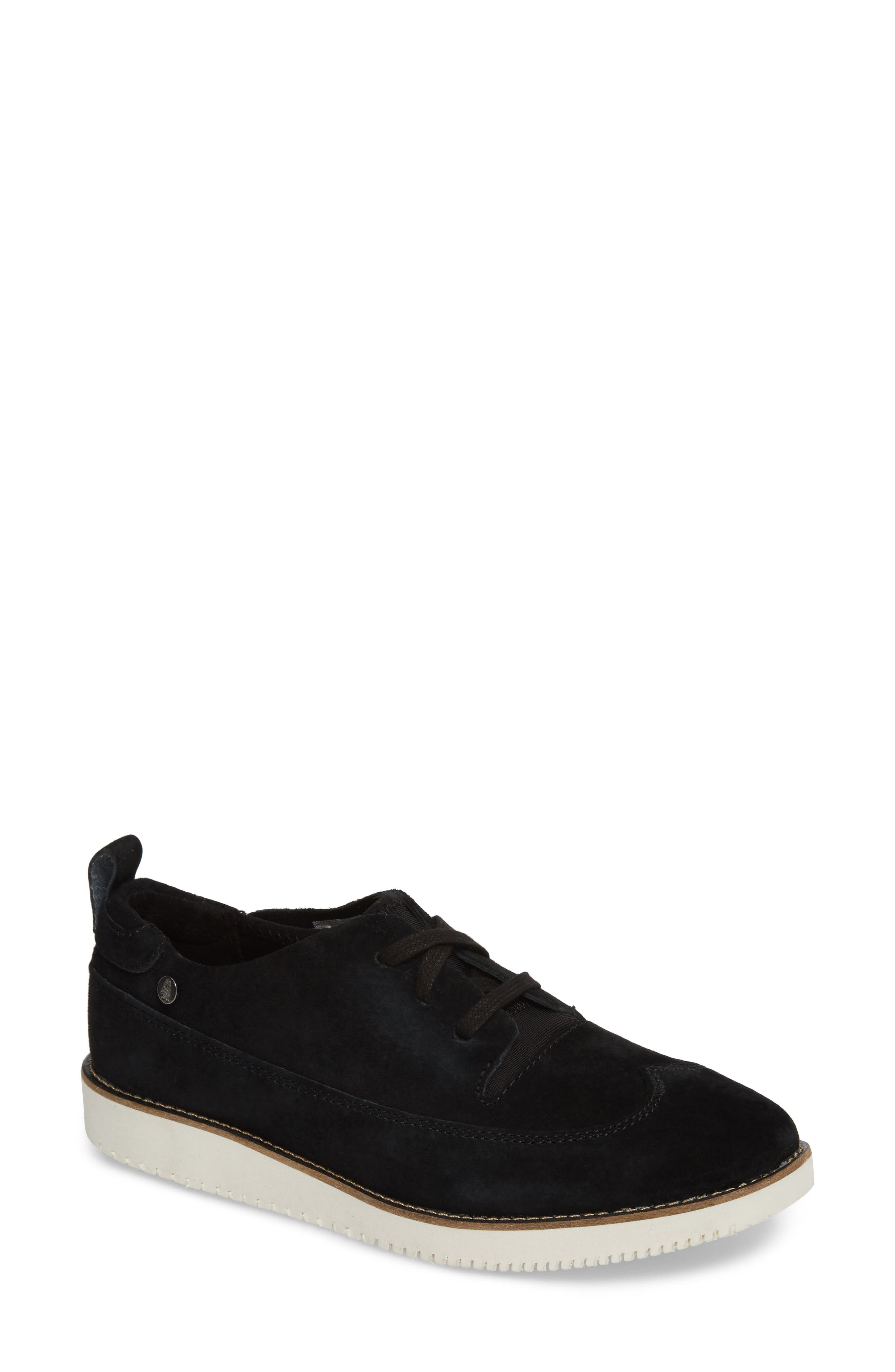 HUSH PUPPIES<SUP>®</SUP>, Chowchow Oxford, Main thumbnail 1, color, BLACK SUEDE