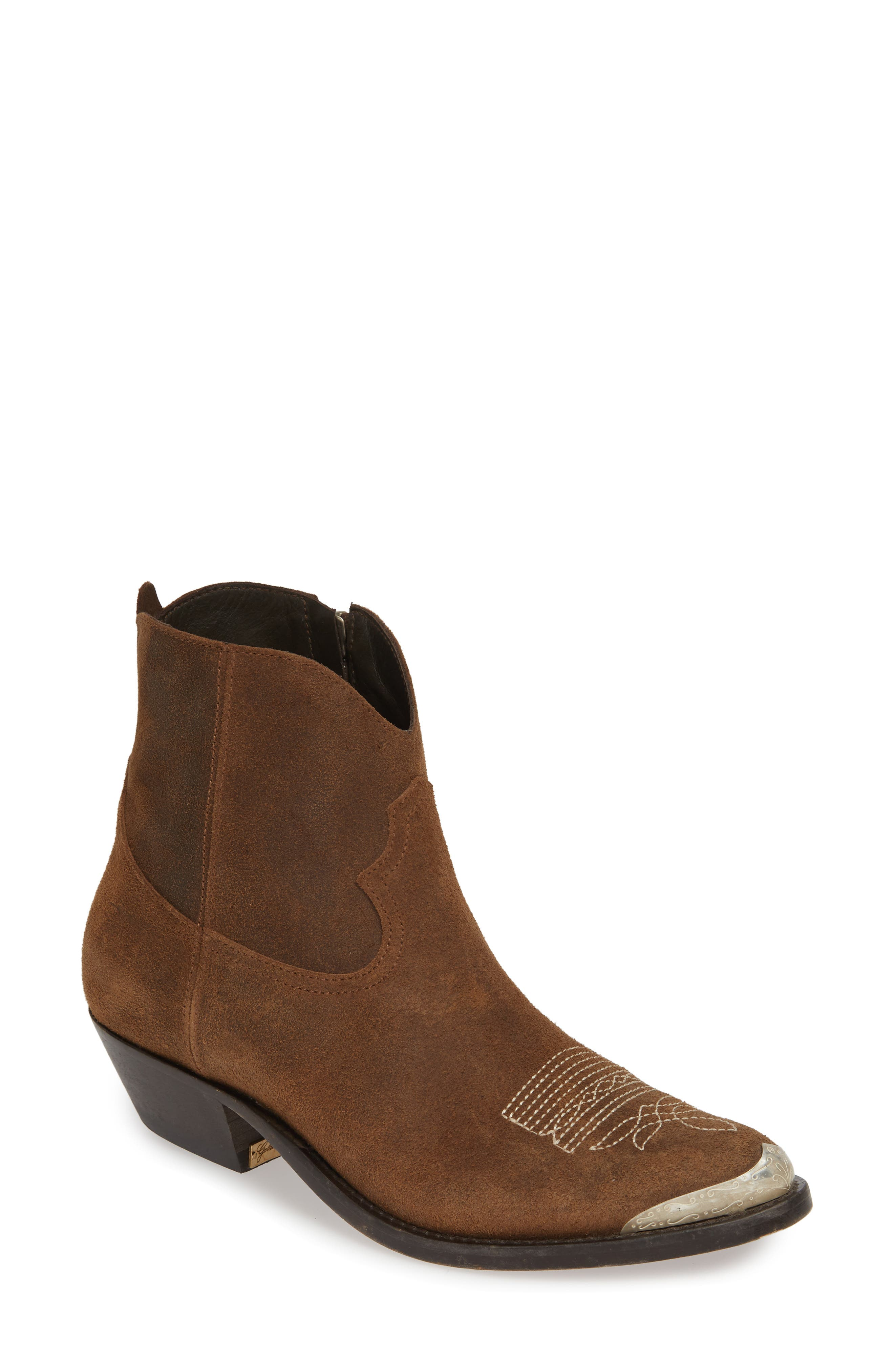 GOLDEN GOOSE Young Western Boot, Main, color, DARK BROWN