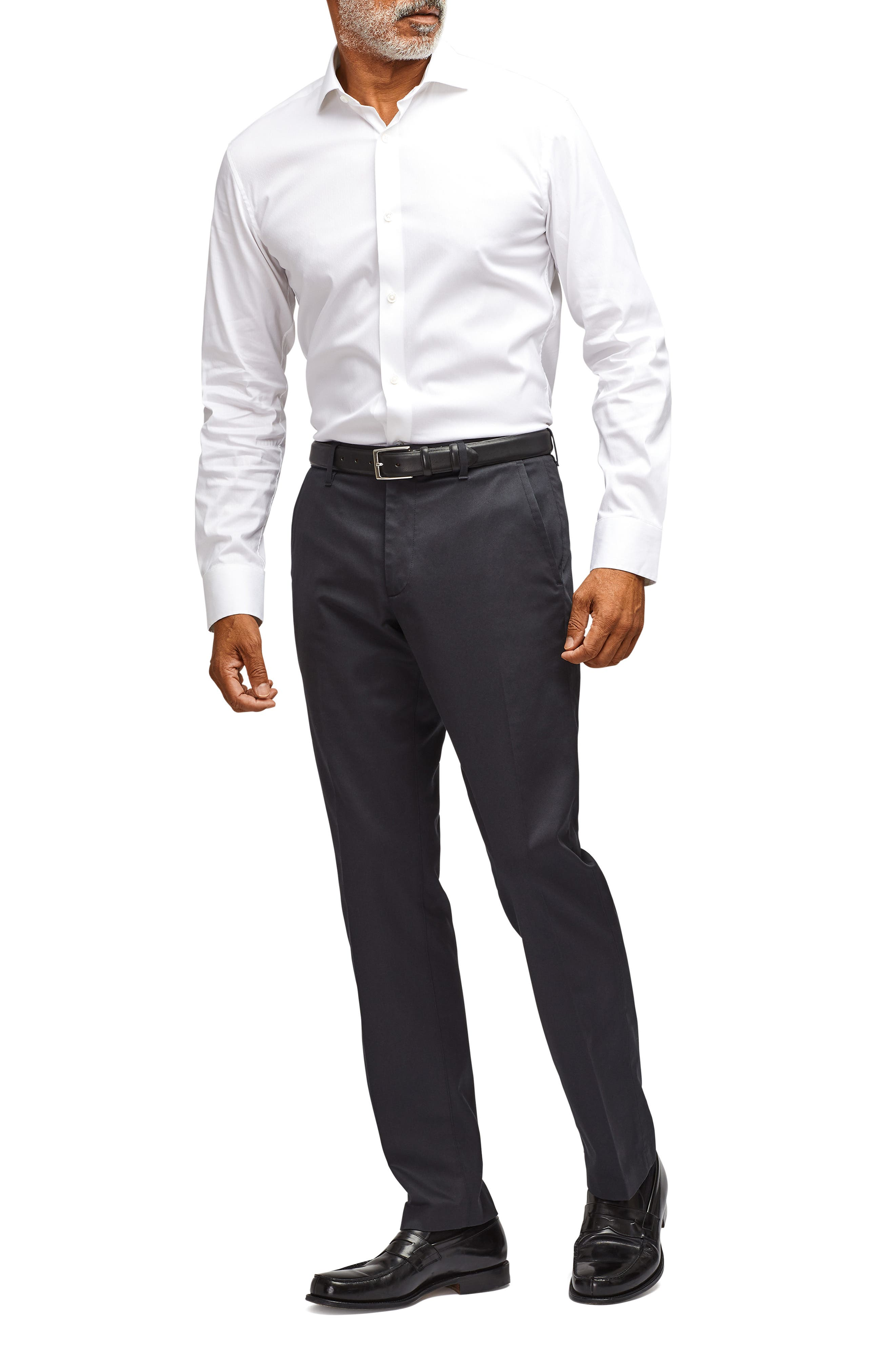 BONOBOS, Weekday Warrior Slim Fit Stretch Dress Pants, Alternate thumbnail 8, color, BLACK