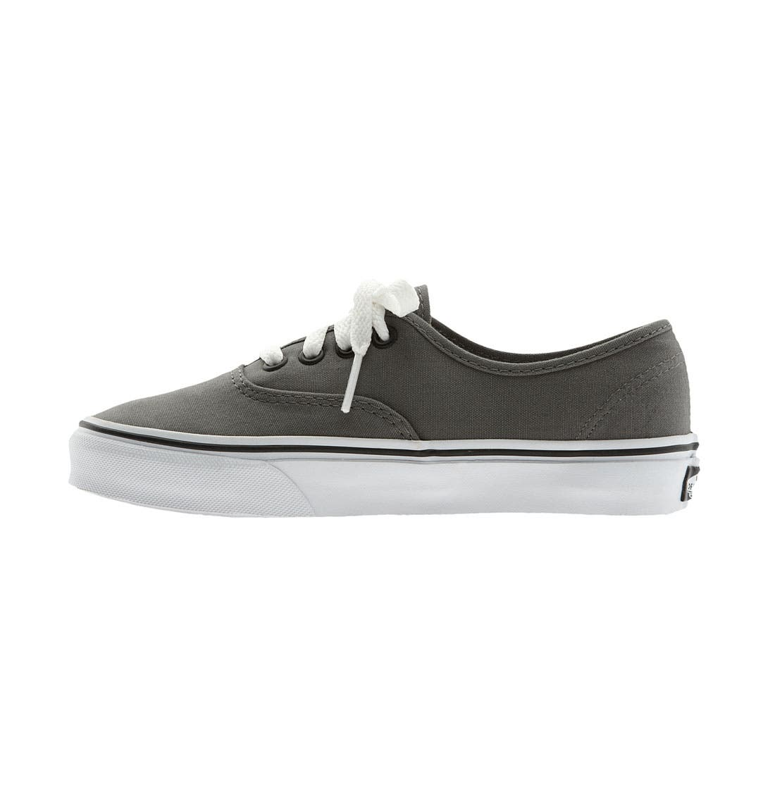 VANS, 'Authentic' Sneaker, Alternate thumbnail 9, color, PEWTER/BLACK