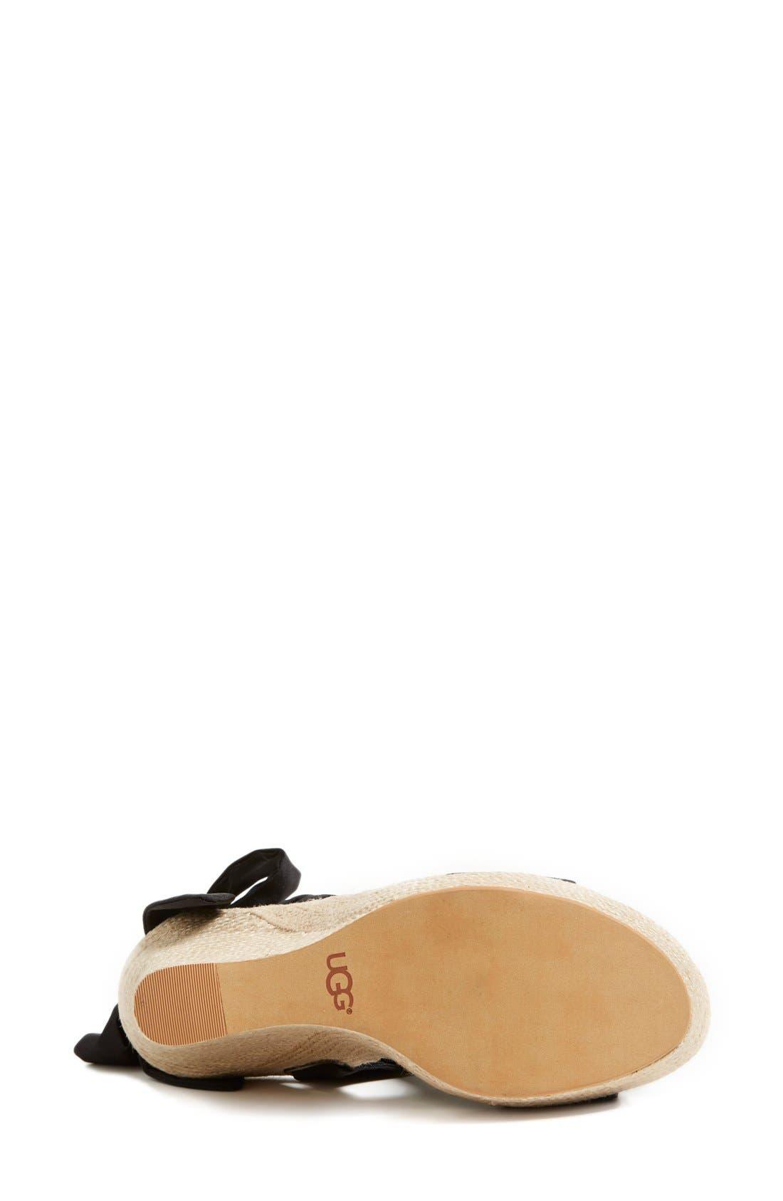 UGG<SUP>®</SUP>, 'Jules' Platform Wedge Sandal, Alternate thumbnail 2, color, 001