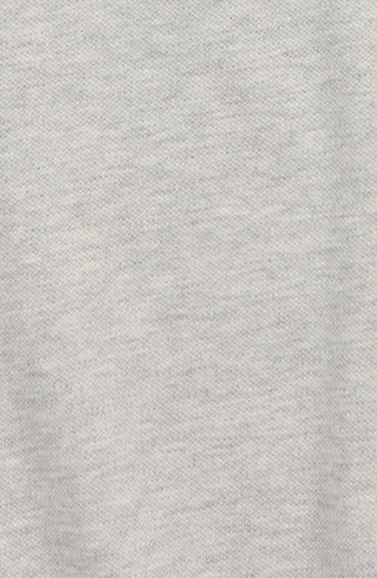 GUCCI, Cotton Logo Collar Polo Shirt, Alternate thumbnail 2, color, L.GREY MEL/ NAVY/ RED