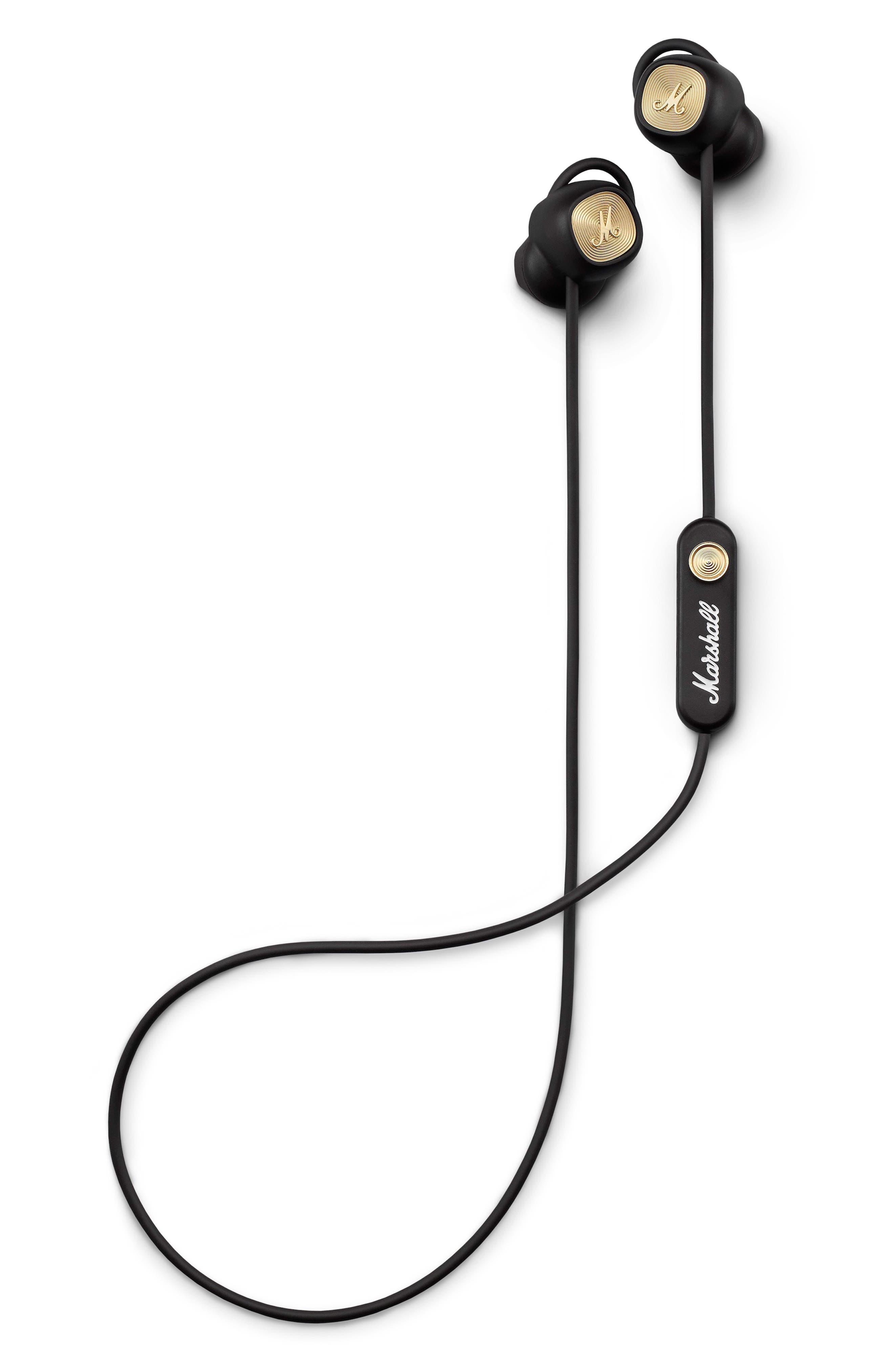 MARSHALL, Minor II Bluetooth In-Ear Headphones, Main thumbnail 1, color, BLACK