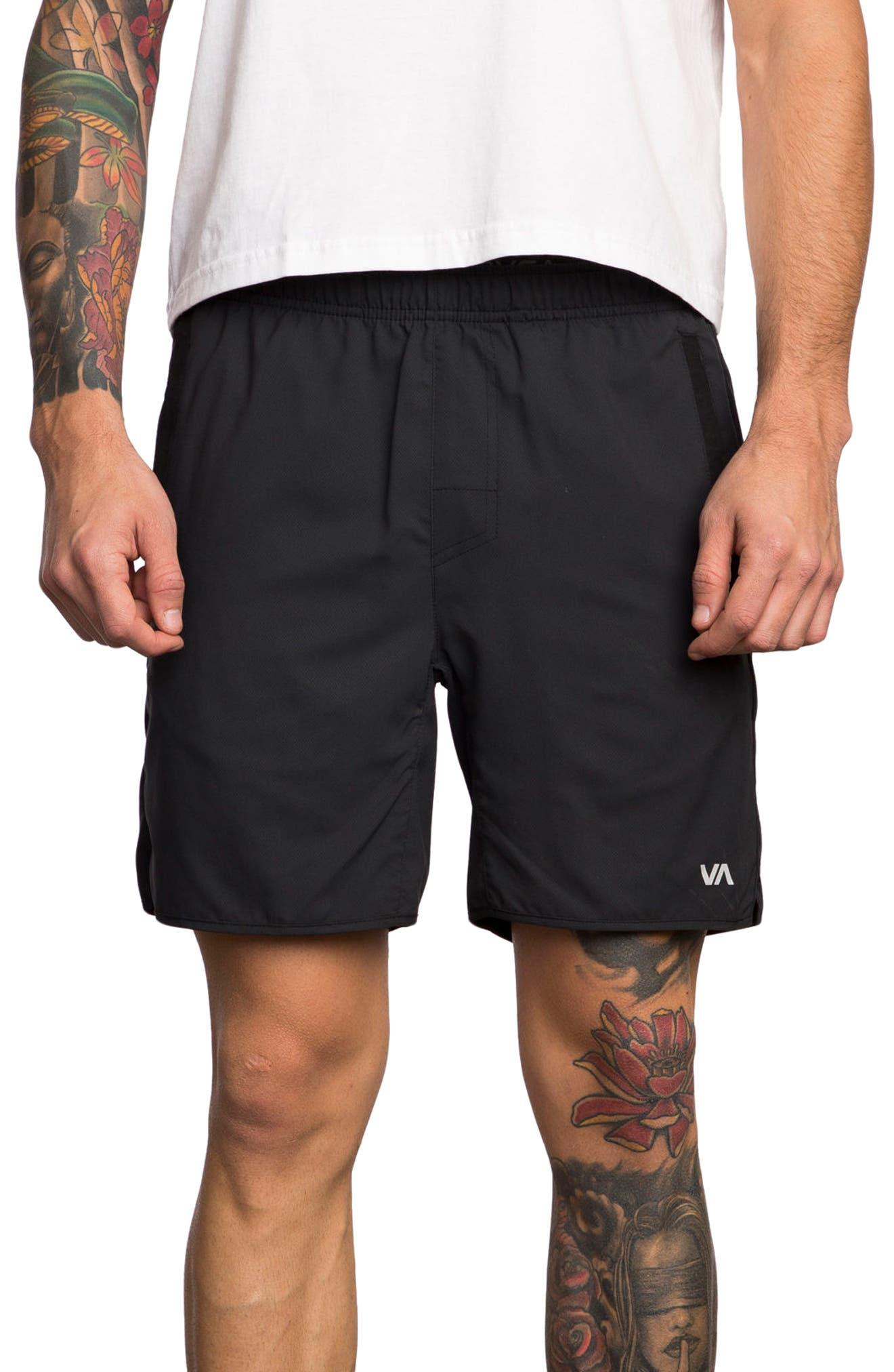 RVCA, Yogger III Athletic Shorts, Main thumbnail 1, color, 001