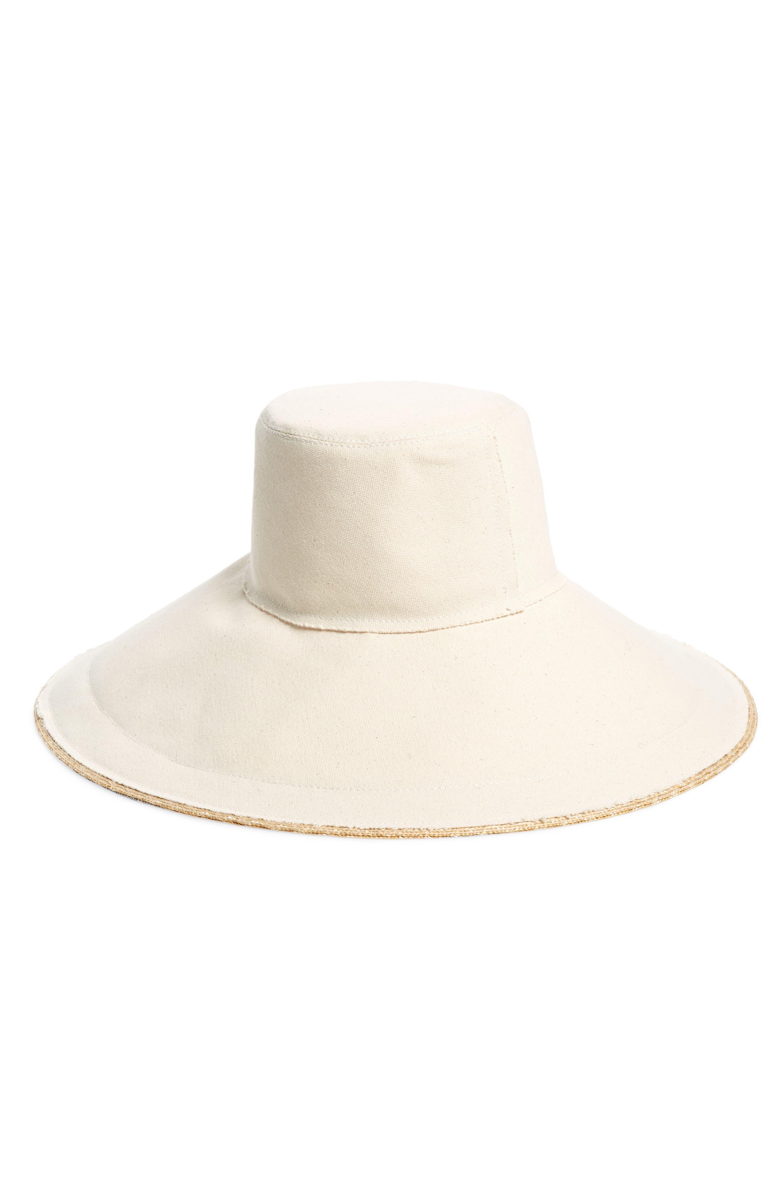 LOLA HATS Single Take Wide Brim Hat, Main, color, NATURAL