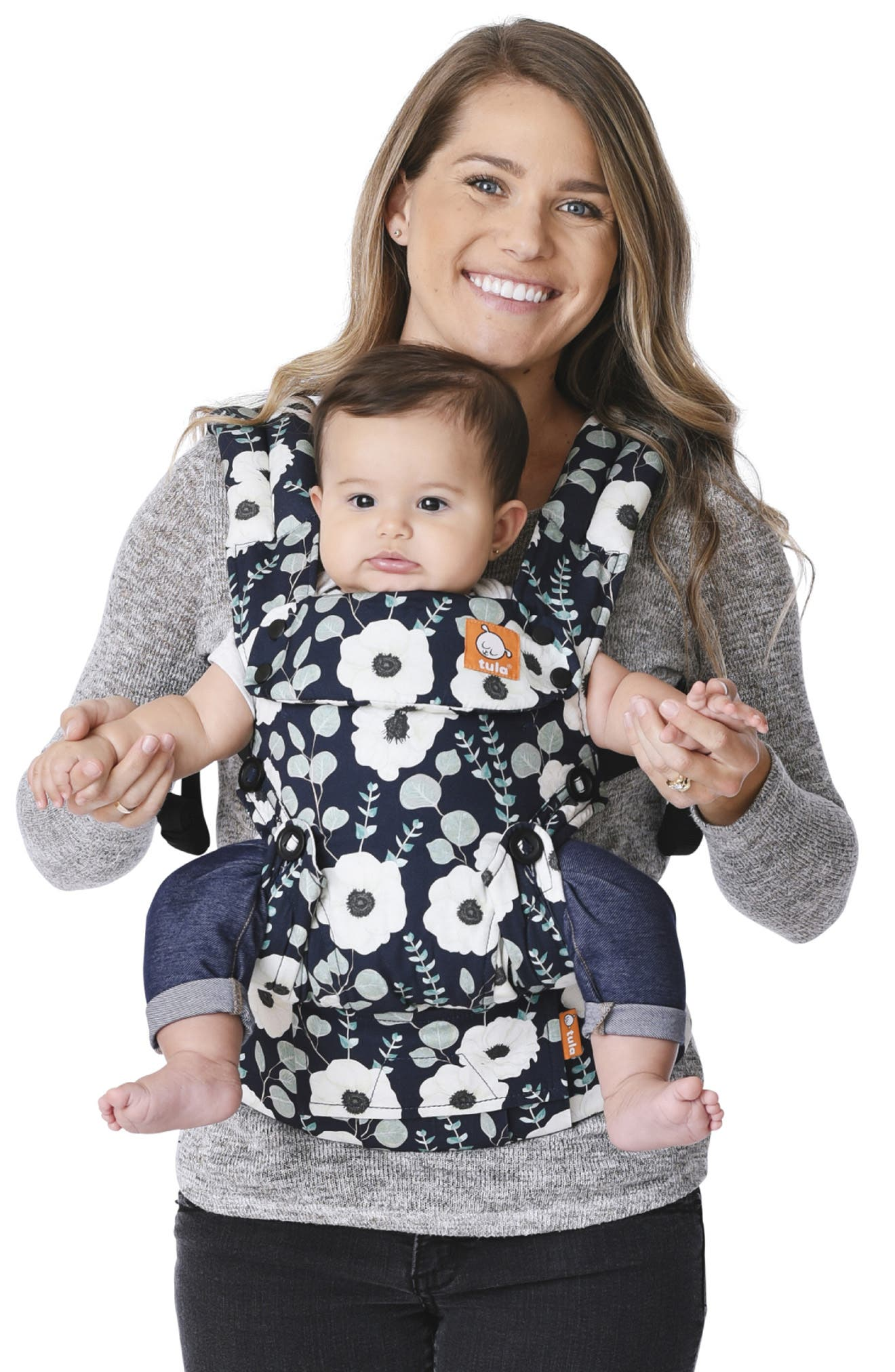 BABY TULA, Explore Front/Back Baby Carrier, Alternate thumbnail 4, color, SONNET
