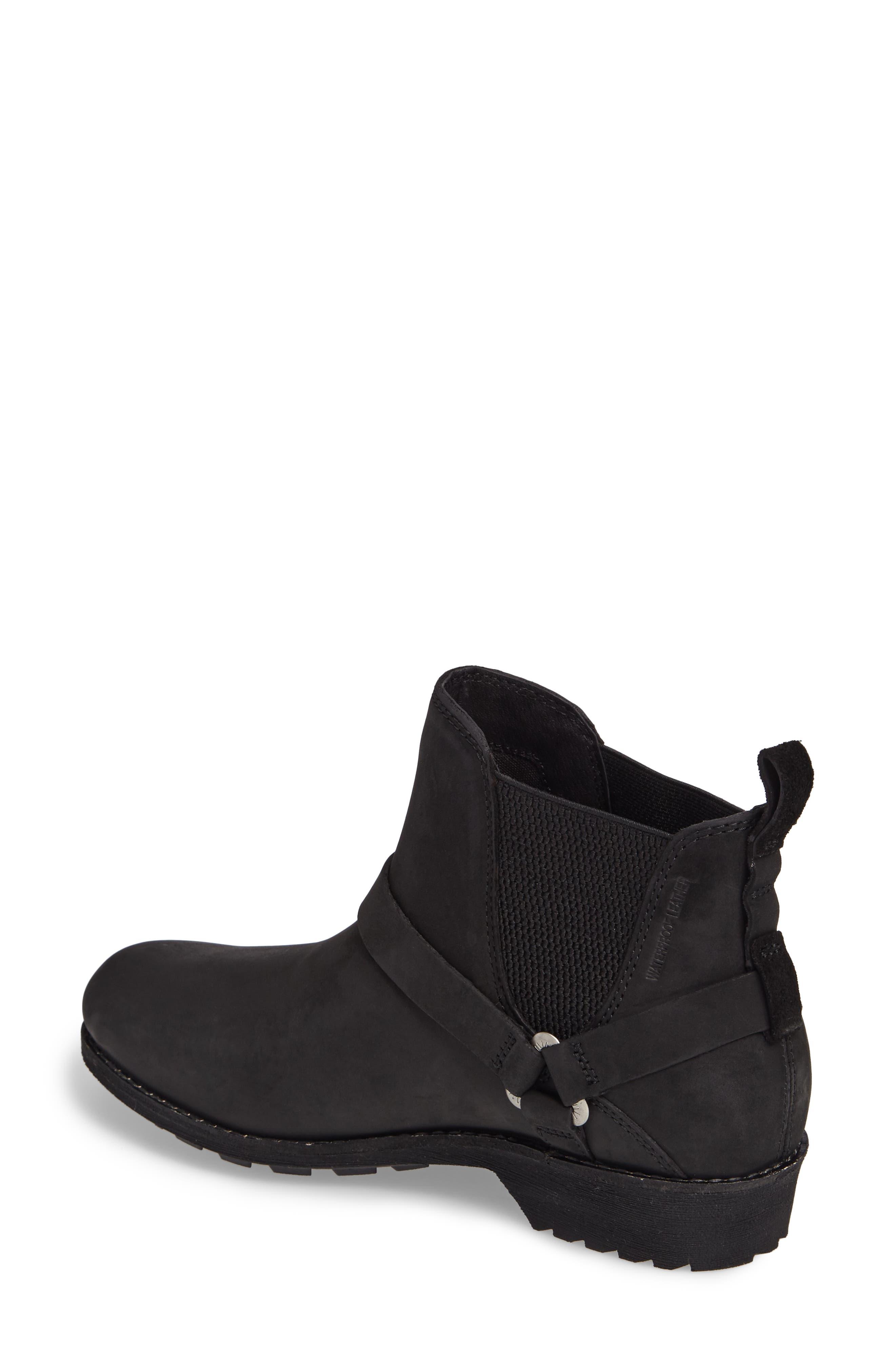 TEVA, De La Vina Dos Waterproof Chelsea Boot, Alternate thumbnail 2, color, BLACK LEATHER