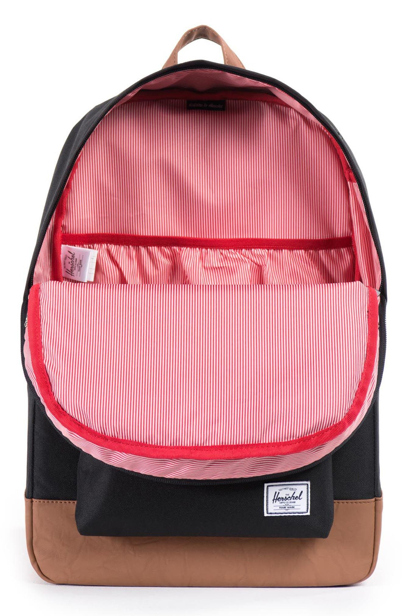 HERSCHEL SUPPLY CO., Heritage Backpack, Alternate thumbnail 5, color, BLACK
