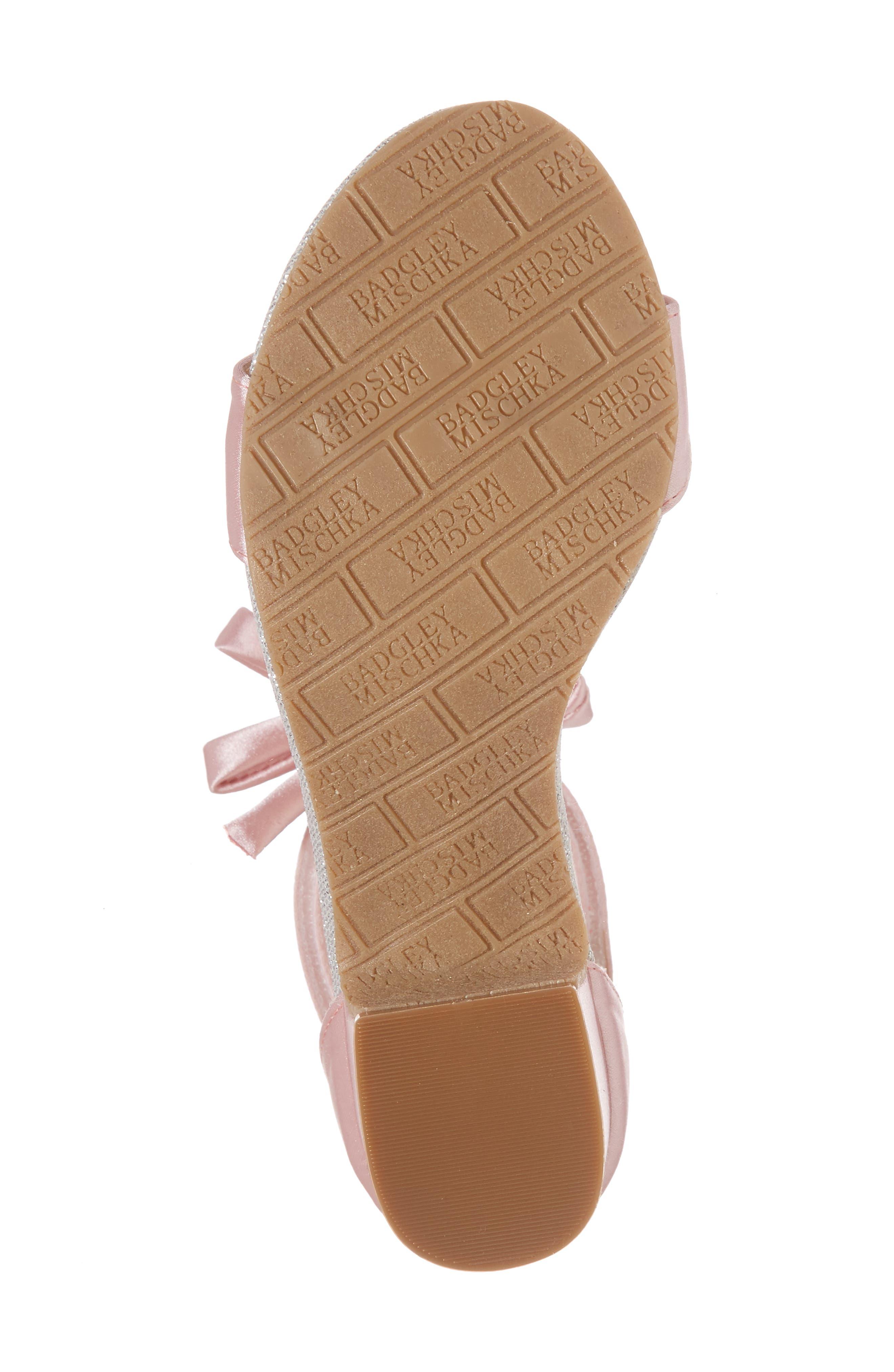 BADGLEY MISCHKA COLLECTION, Badgley Mischka Pernia Embellished Sandal, Alternate thumbnail 6, color, PINK/ SILVER