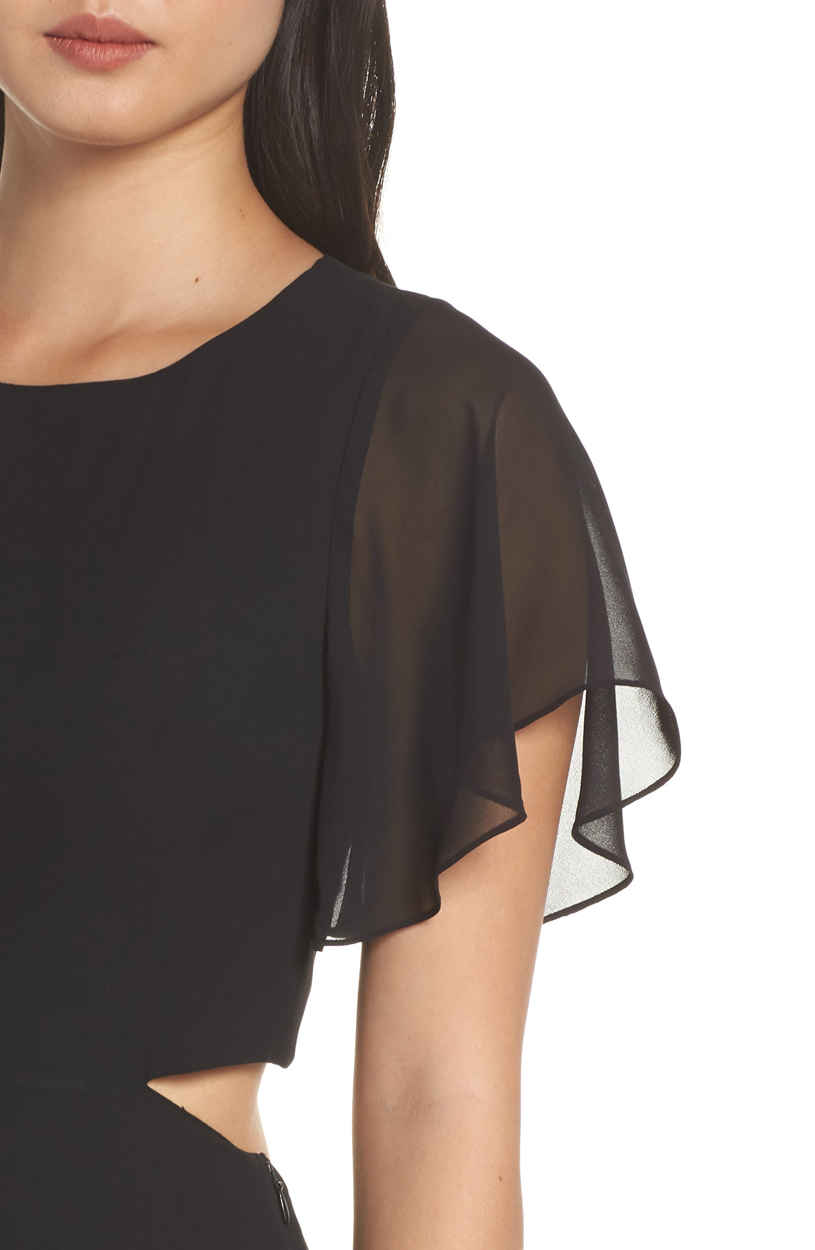 ALI & JAY, Cutout Maxi Dress, Alternate thumbnail 5, color, BLACK