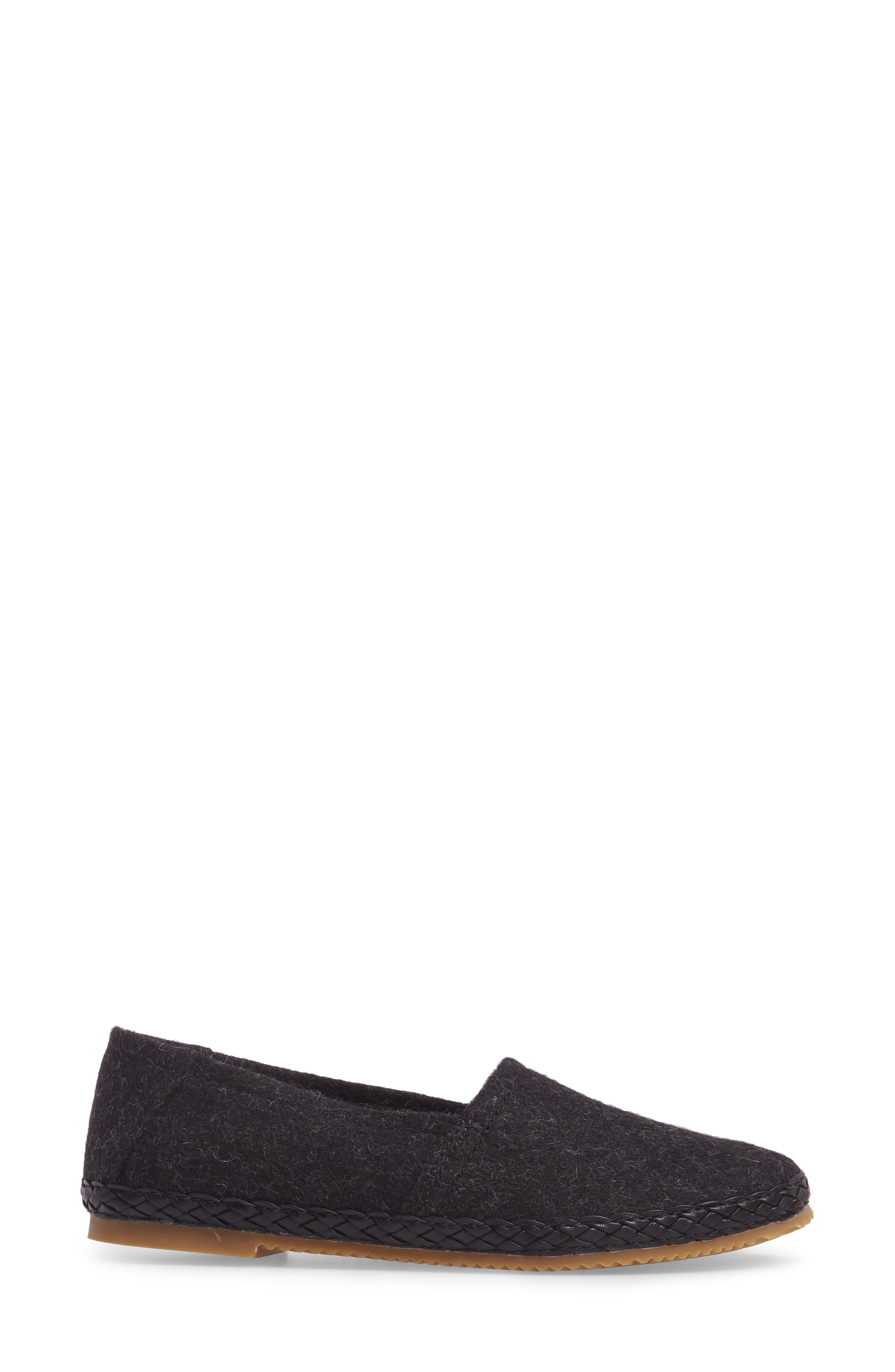 AETREX, Kylie Slip-On, Alternate thumbnail 3, color, BLACK FABRIC
