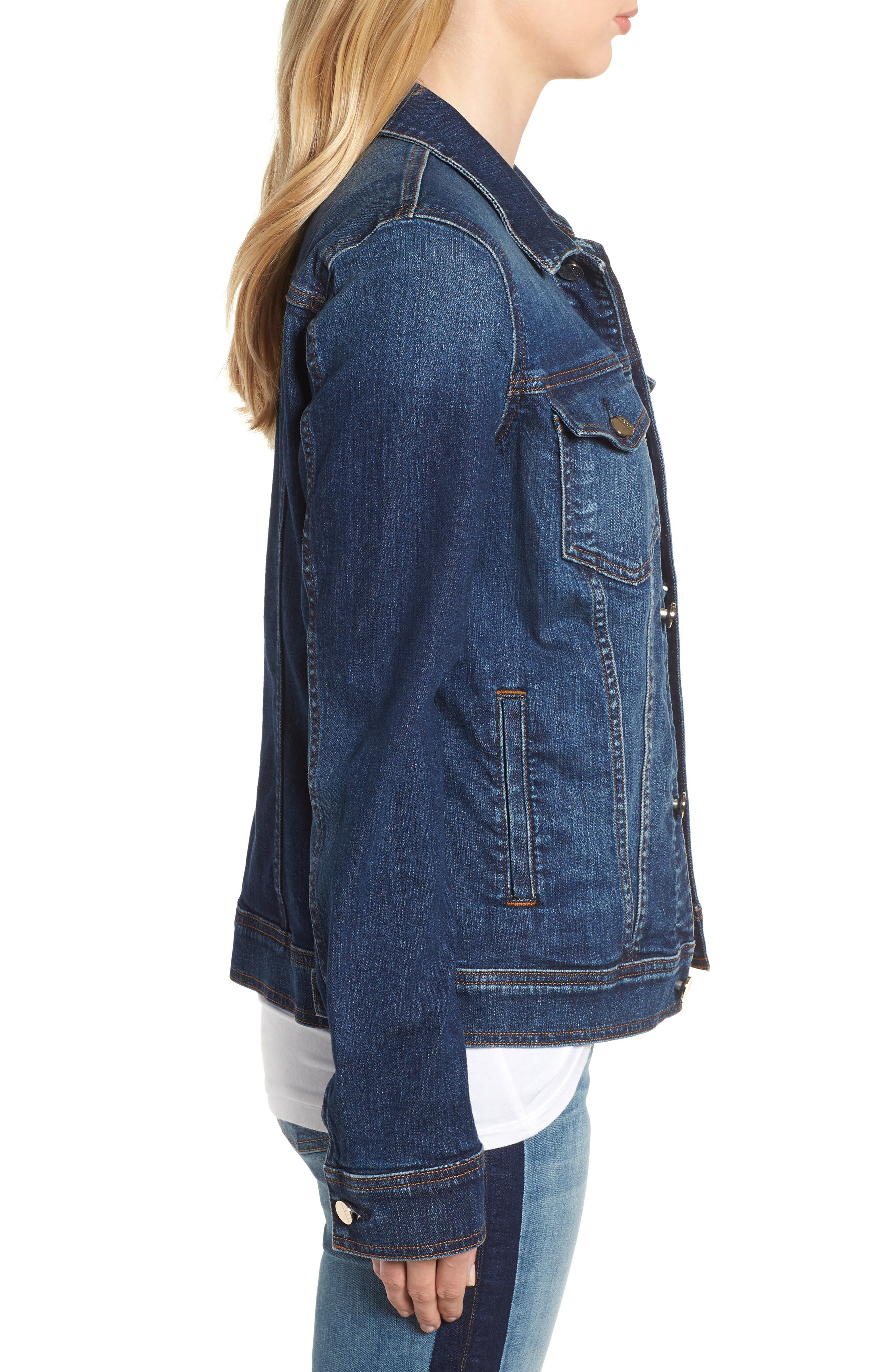 JEN7 BY 7 FOR ALL MANKIND, Classic Denim Jacket, Alternate thumbnail 3, color, 403