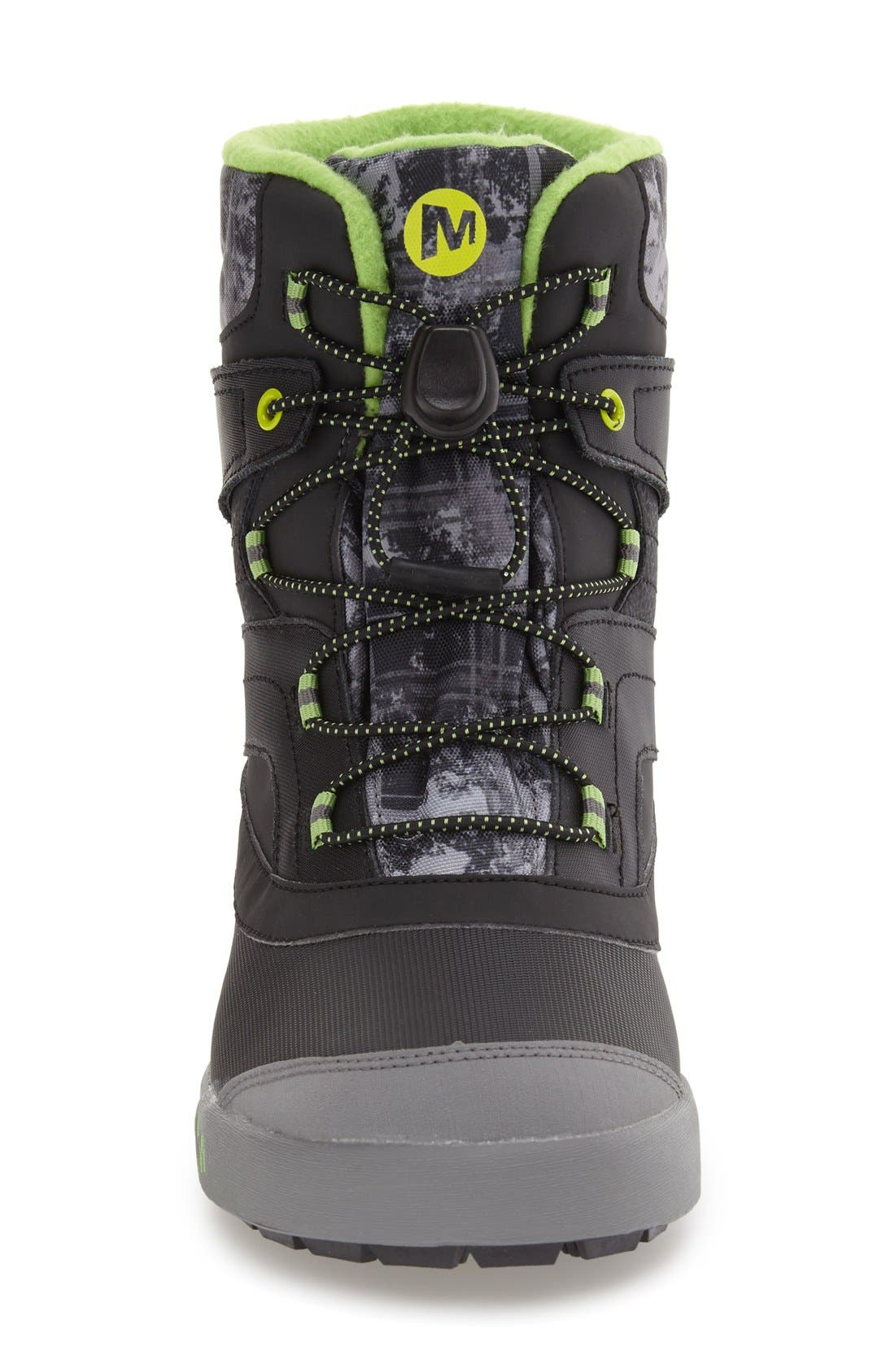 MERRELL, 'Snow Bank 2' Waterproof Boot, Alternate thumbnail 3, color, 001