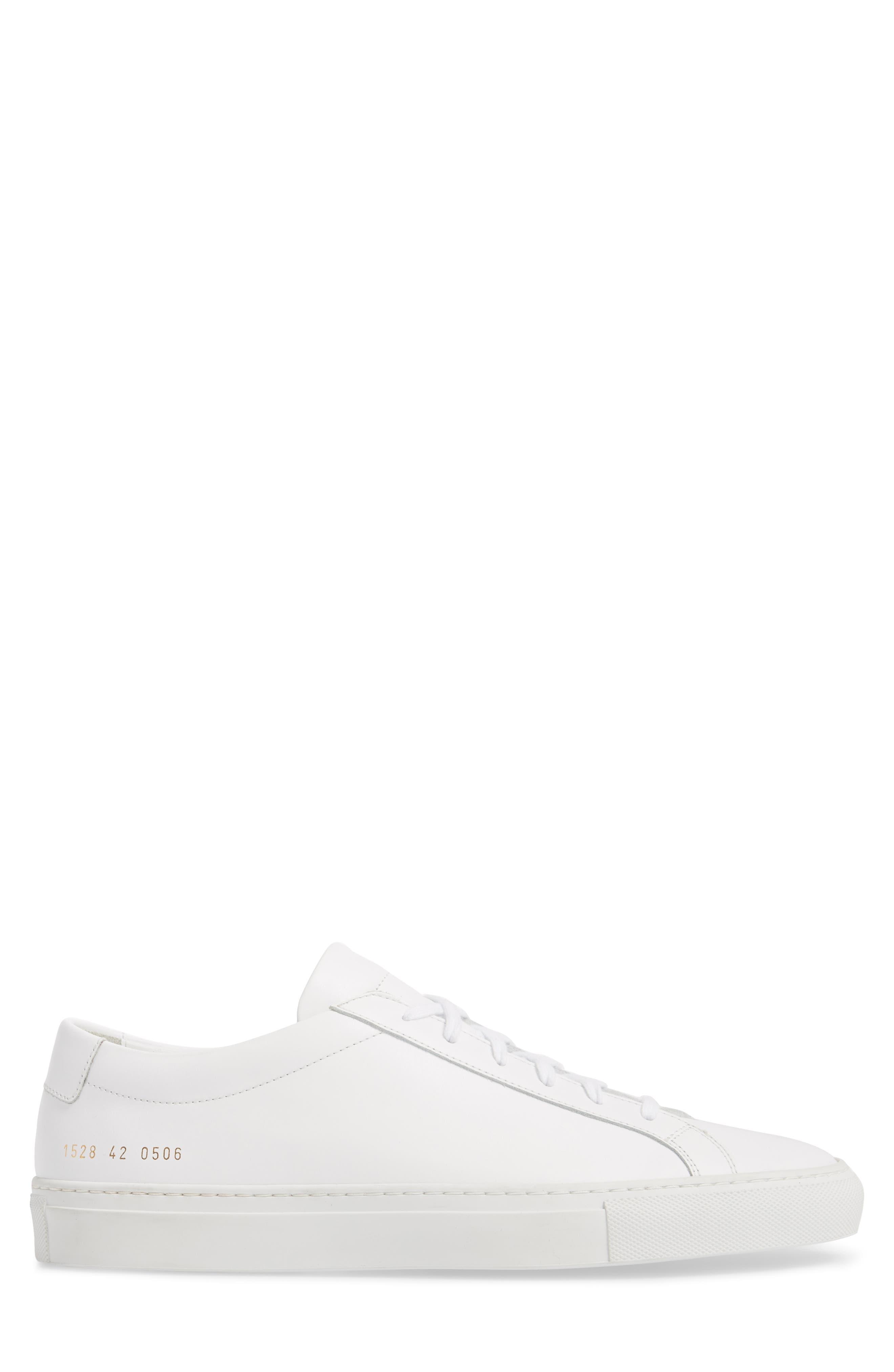 COMMON PROJECTS, Original Achilles Sneaker, Alternate thumbnail 3, color, WHITE