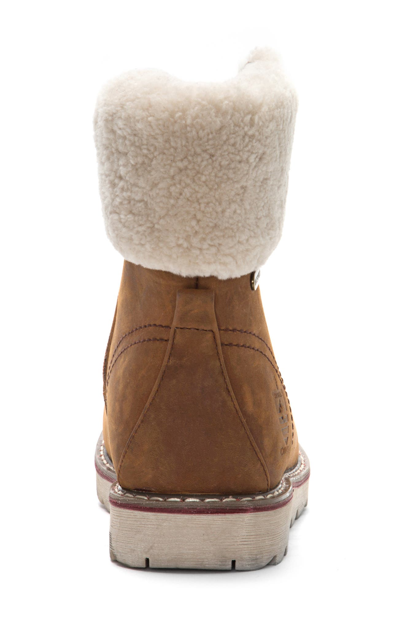 ROYAL CANADIAN, Lethbridge Waterproof Snow Boot with Genuine Shearling Cuff, Alternate thumbnail 5, color, COTTAGE BROWN LEATHER