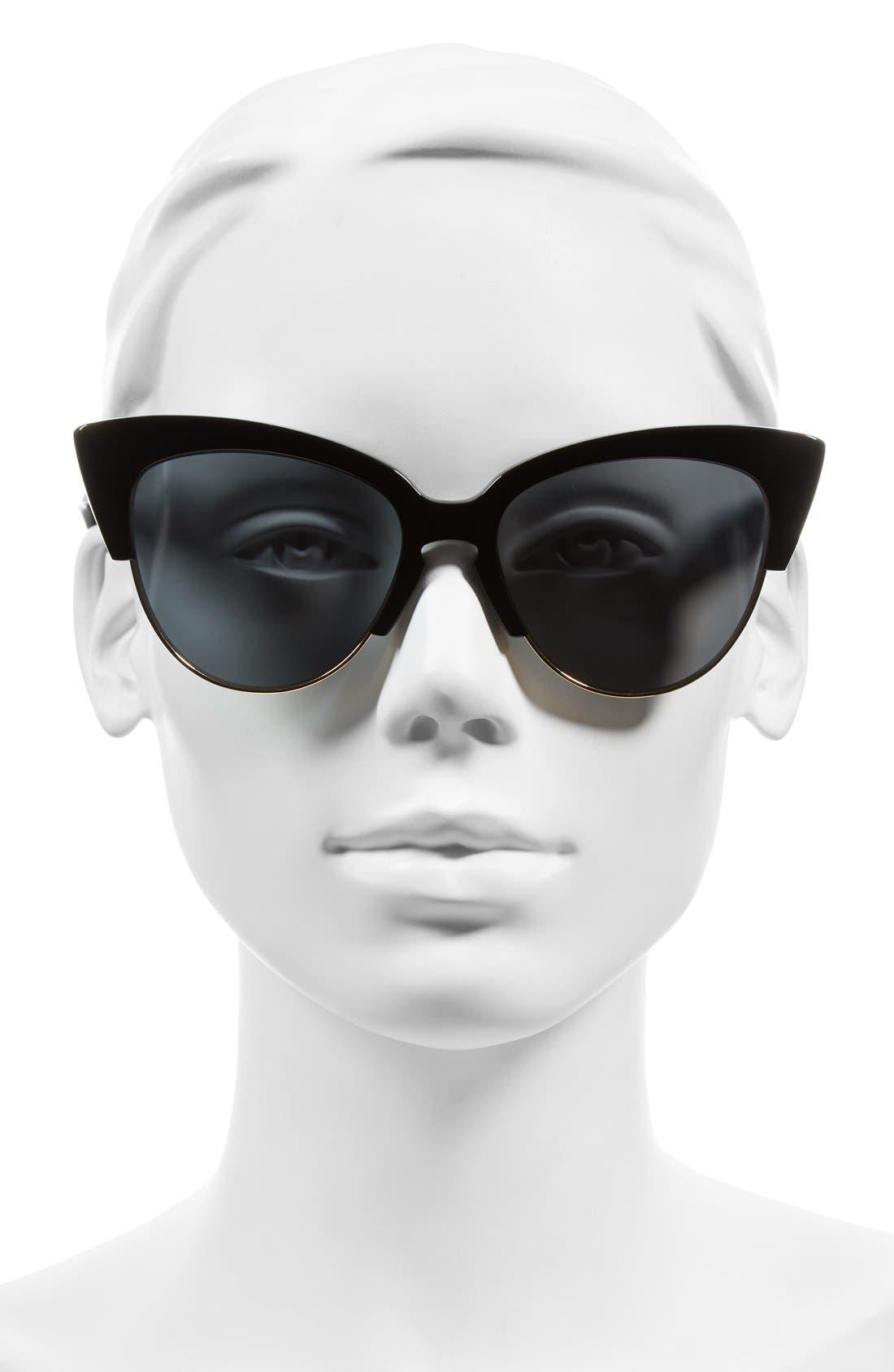 SONIX, Dafni 56mm Gradient Cat Eye Sunglasses, Alternate thumbnail 5, color, 001