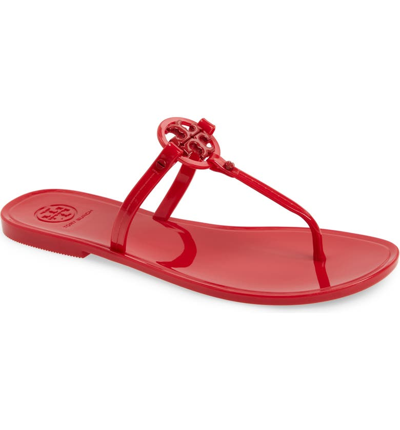 e5faa988d42 Tory Burch Mini Miller Jelly Thong Sandals In Red