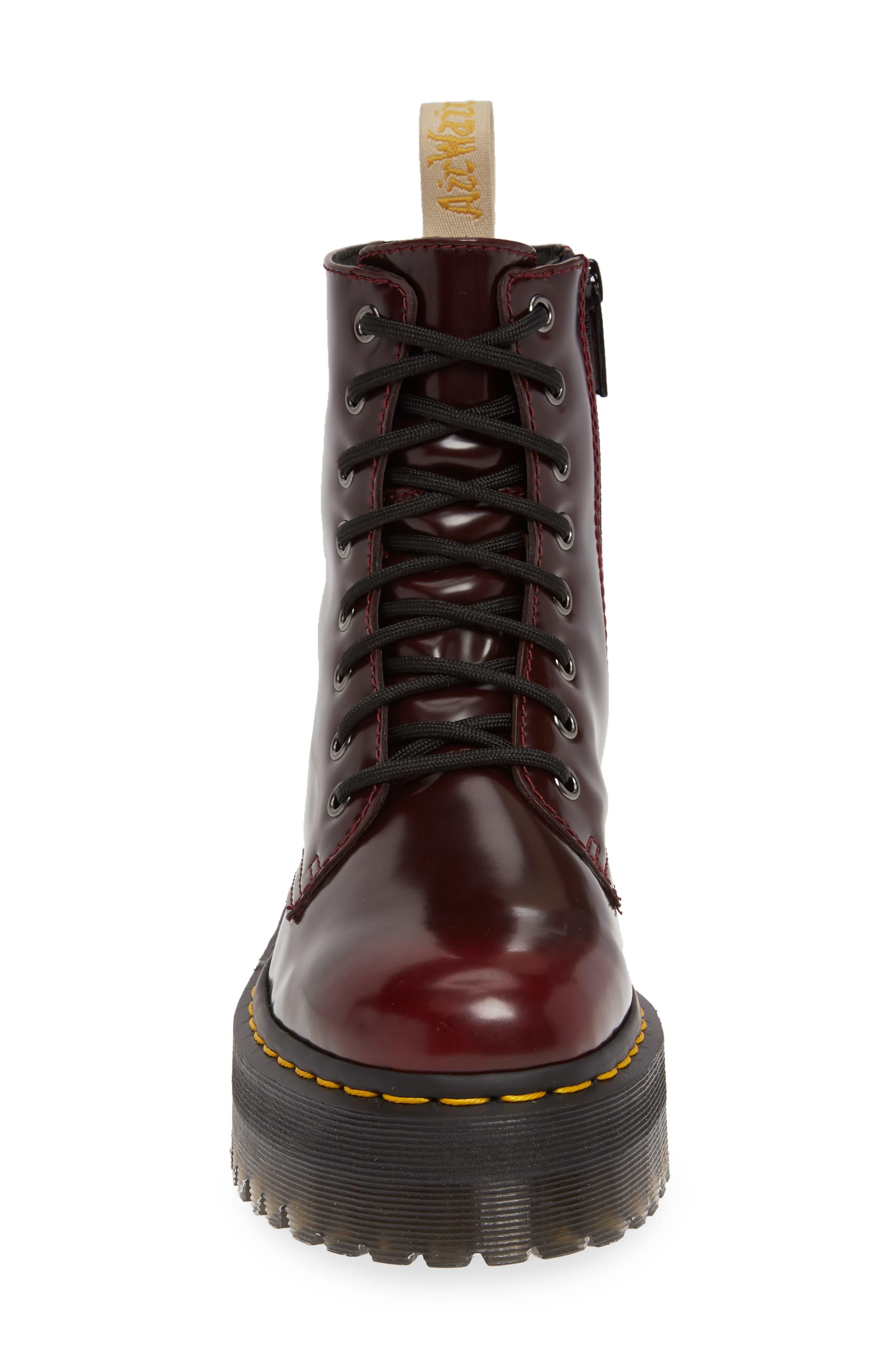DR. MARTENS, Jadon Platform Boot, Alternate thumbnail 4, color, CHERRY RED