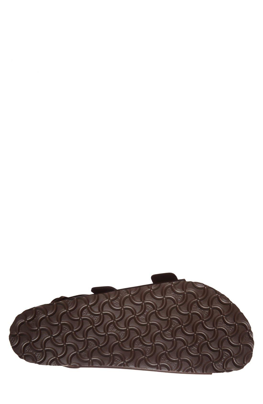 BIRKENSTOCK, 'Milano' Soft Footbed Sandal, Alternate thumbnail 4, color, AMALFI BROWN