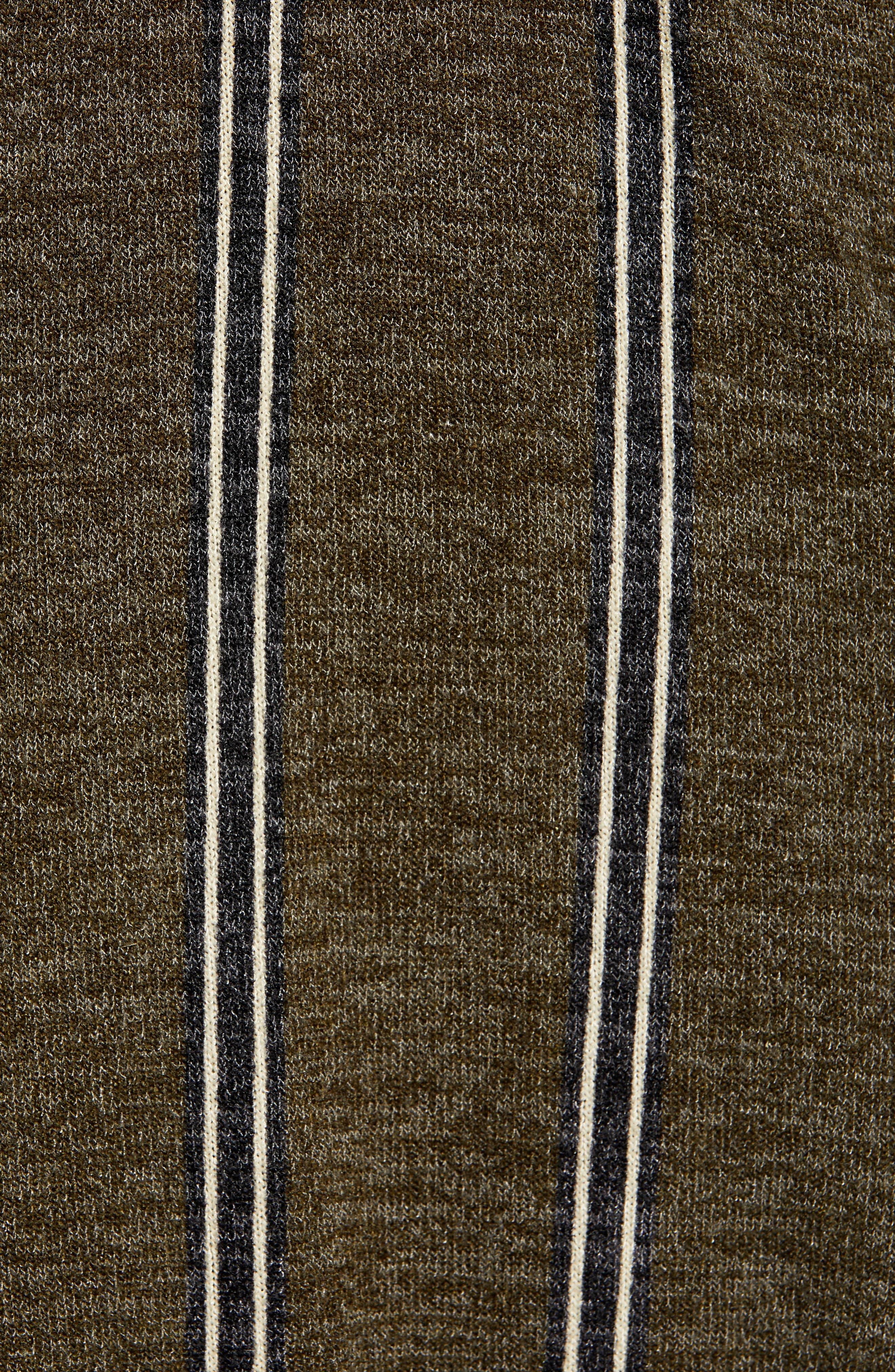 ALL IN FAVOR, Surplus Midi Dress, Alternate thumbnail 6, color, GREEN STRIPE