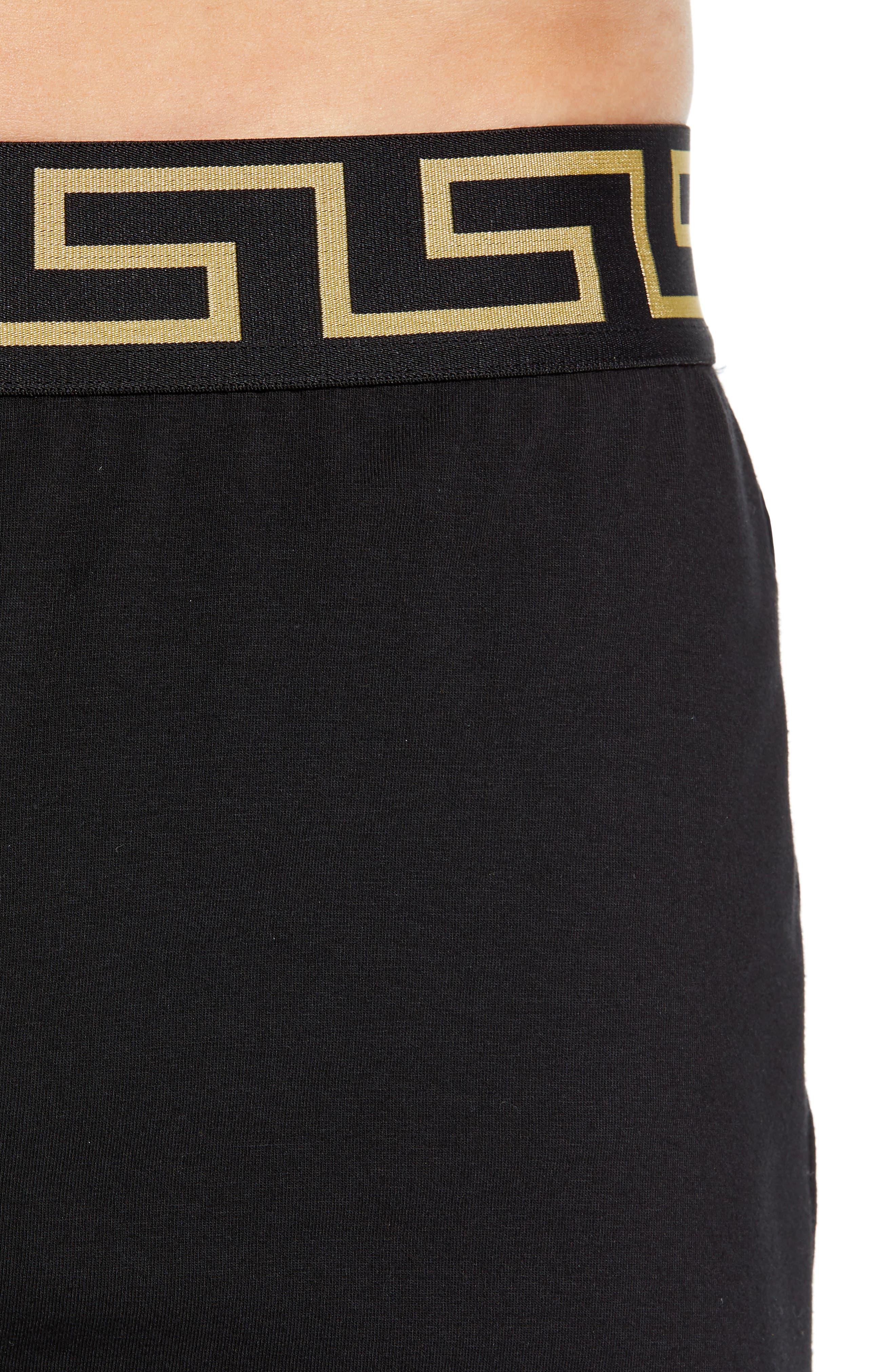 VERSACE, Intimo Uomo Boxers, Alternate thumbnail 4, color, BLACK/ GOLD