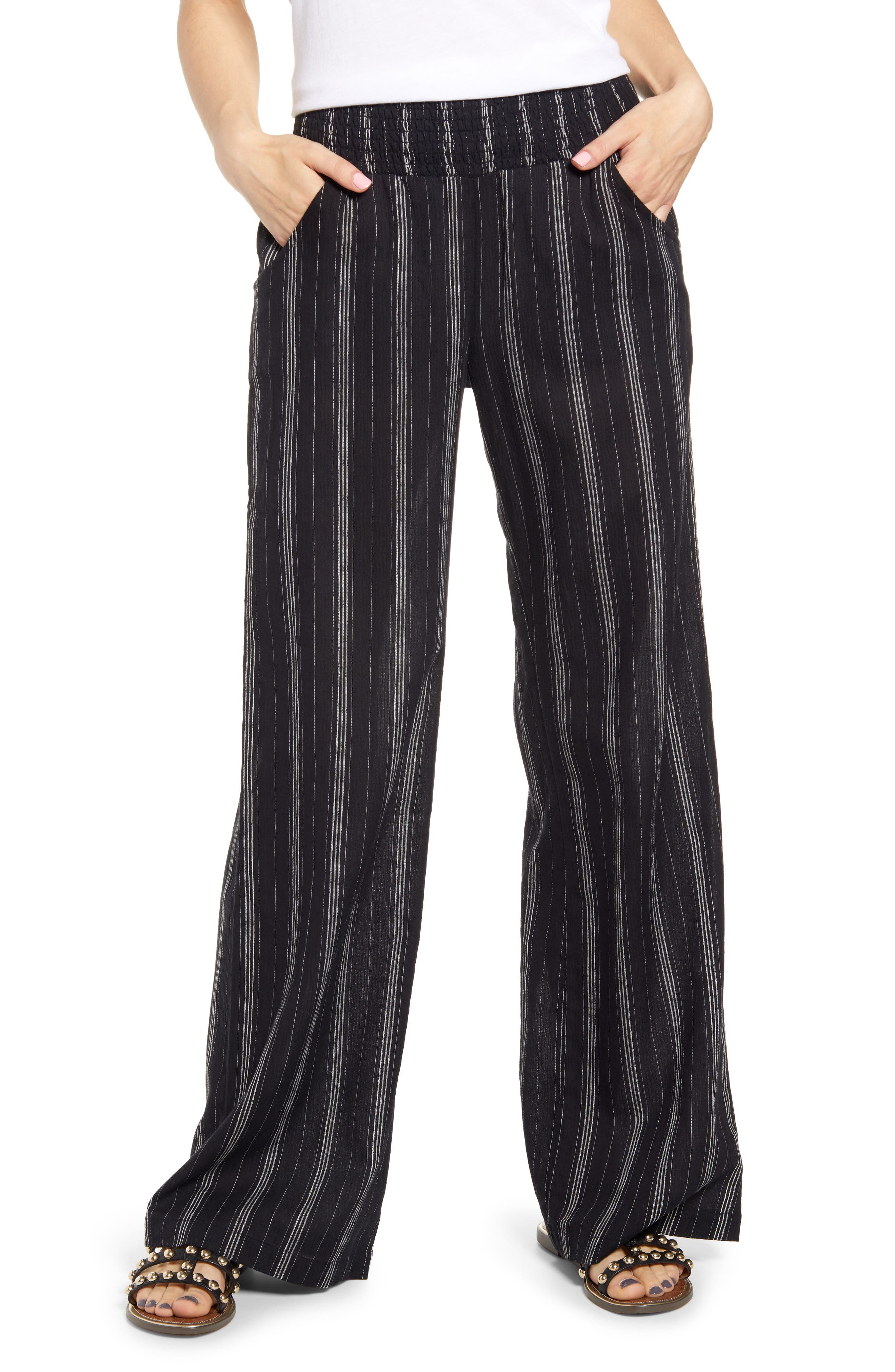 Women's Billabong New Waves Stripe Wide Leg Pants
