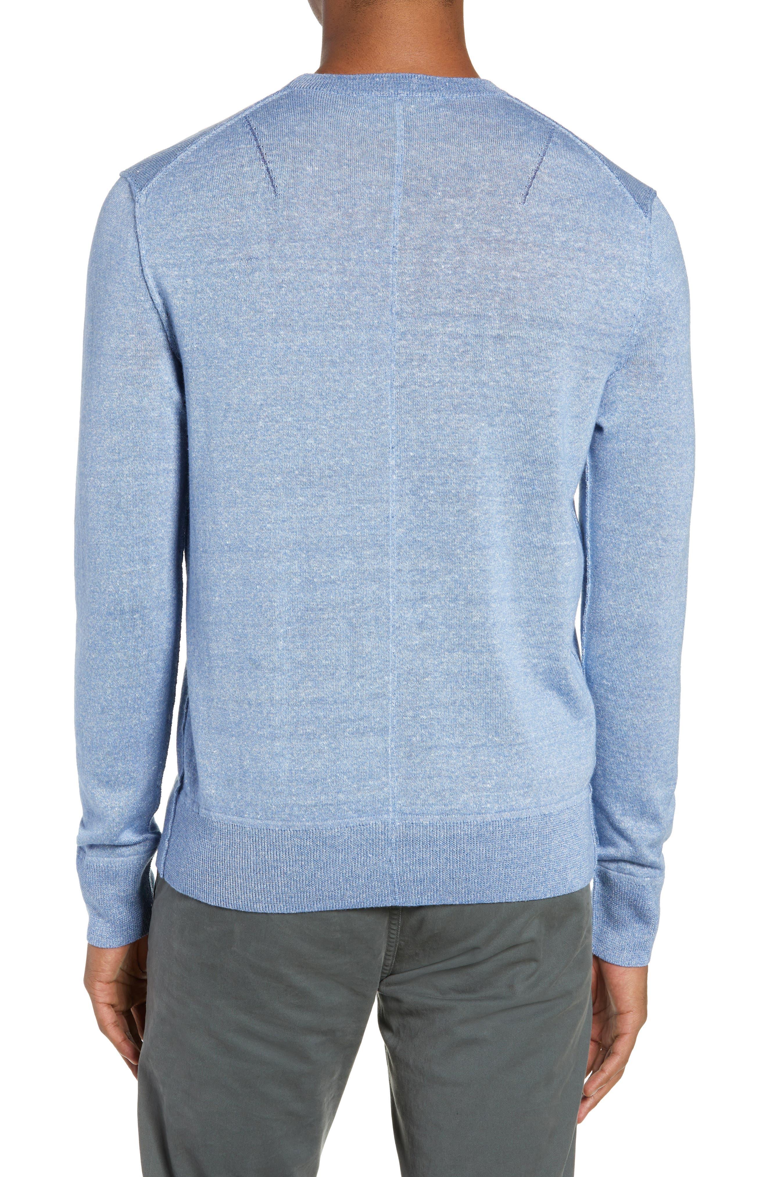 RAG & BONE, Dean Slim Fit Crewneck Sweater, Alternate thumbnail 2, color, 455