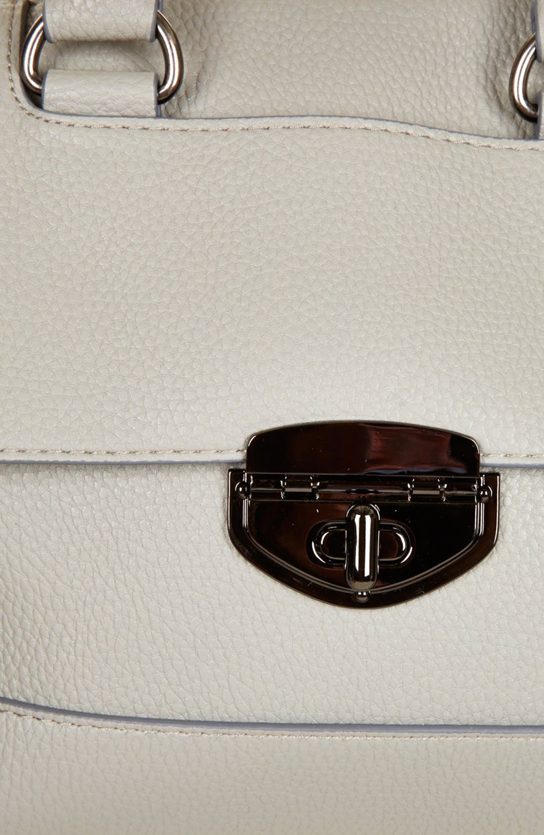 TOPSHOP, Faux Leather Mini Satchel, Alternate thumbnail 2, color, 020