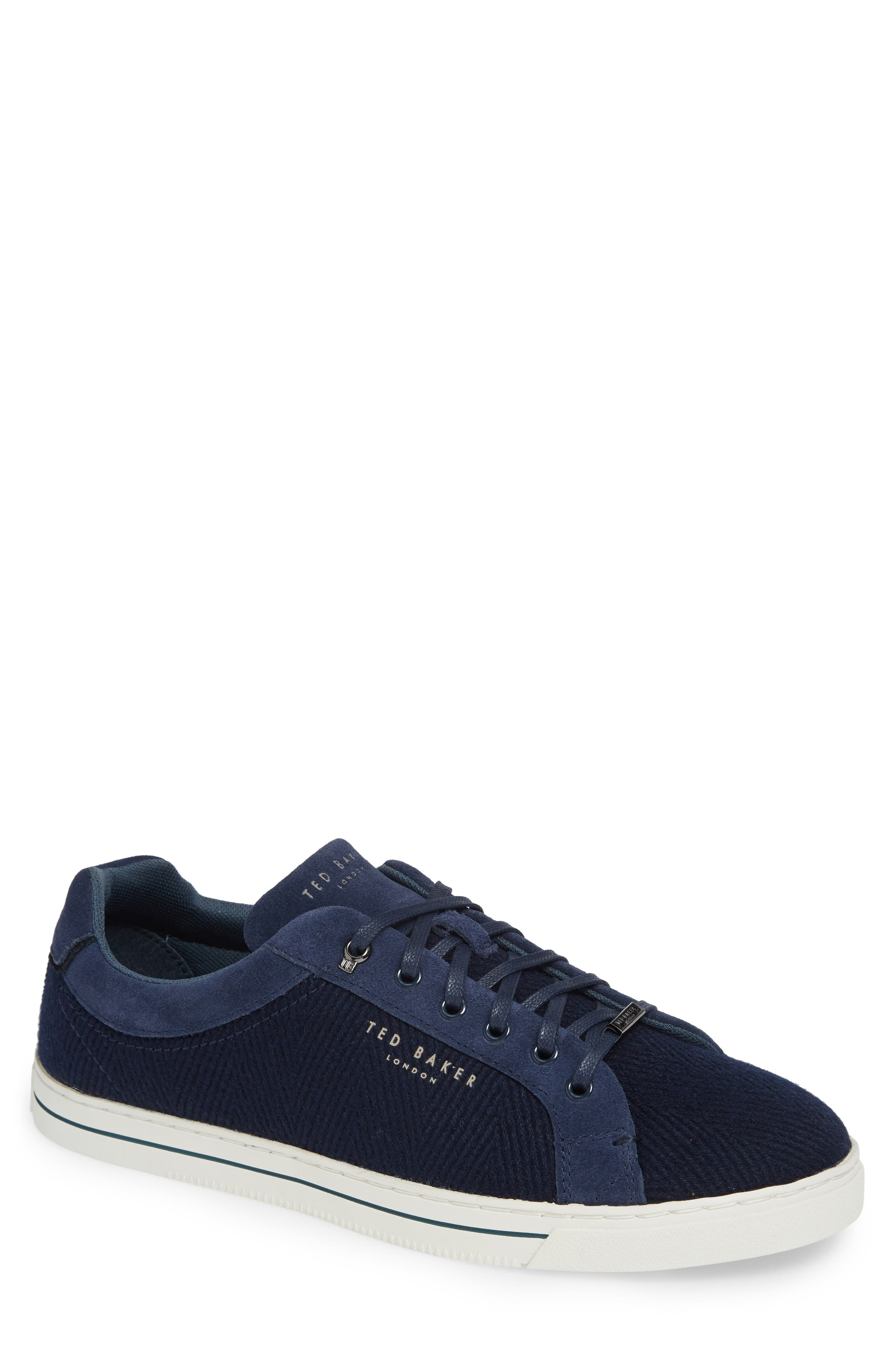 TED BAKER LONDON Werill Sneaker, Main, color, DARK BLUE WOOL