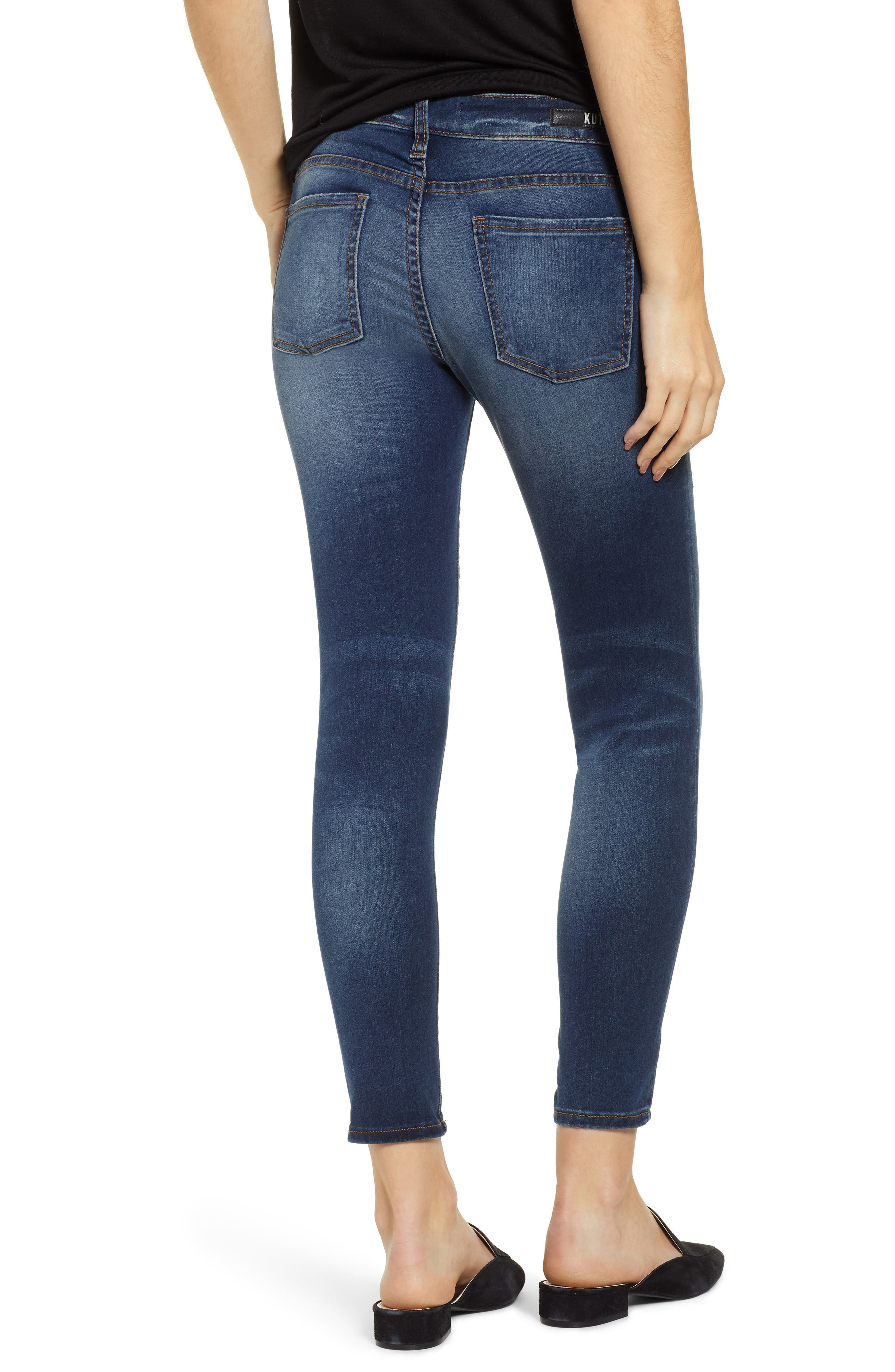 KUT FROM THE KLOTH, KUT From The Koth Donna Ankle Skinny Jeans, Alternate thumbnail 2, color, 400