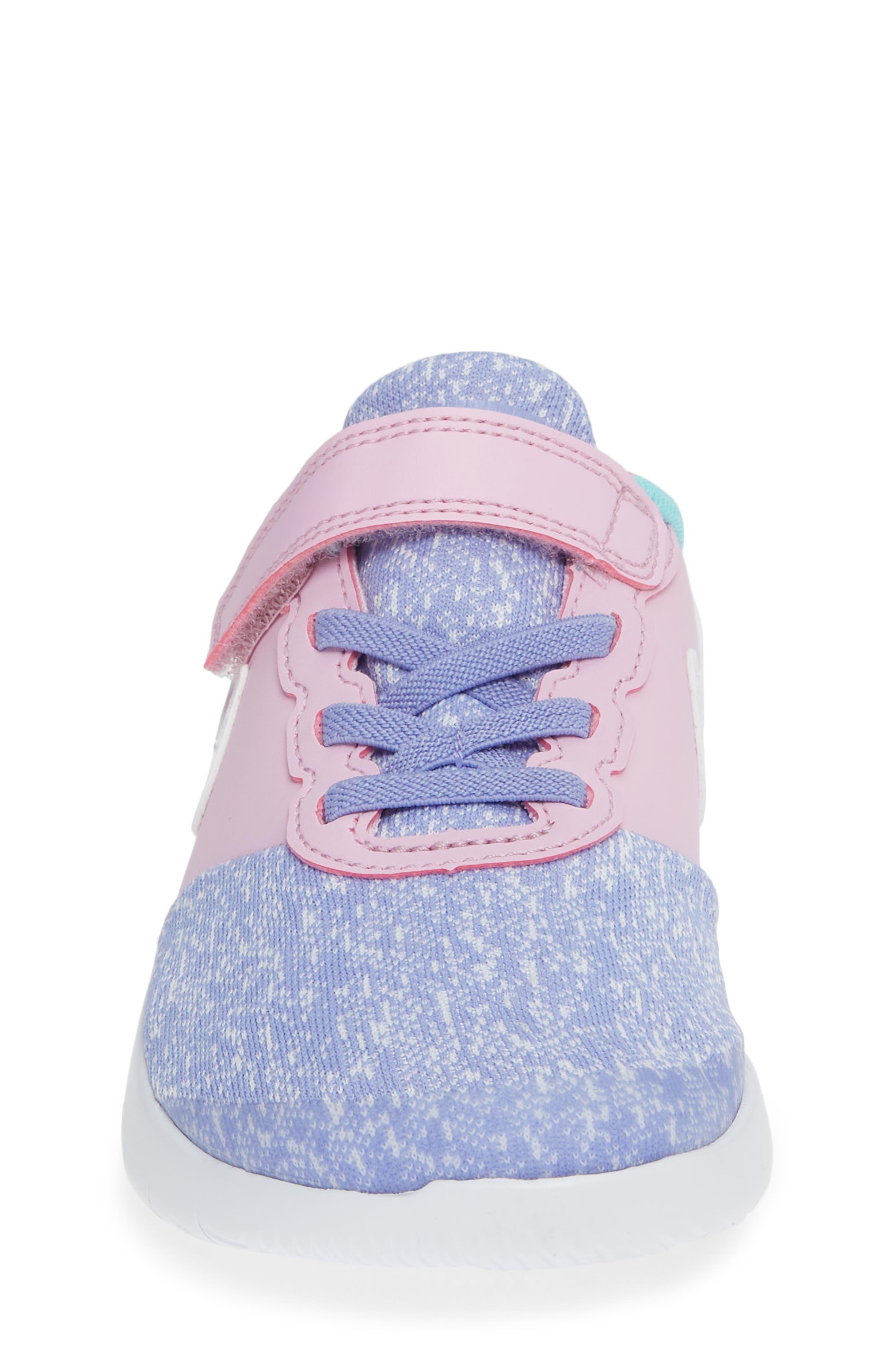 NIKE, Flex Contact Running Shoe, Alternate thumbnail 4, color, TWILIGHT PULSE WHITE AQUA
