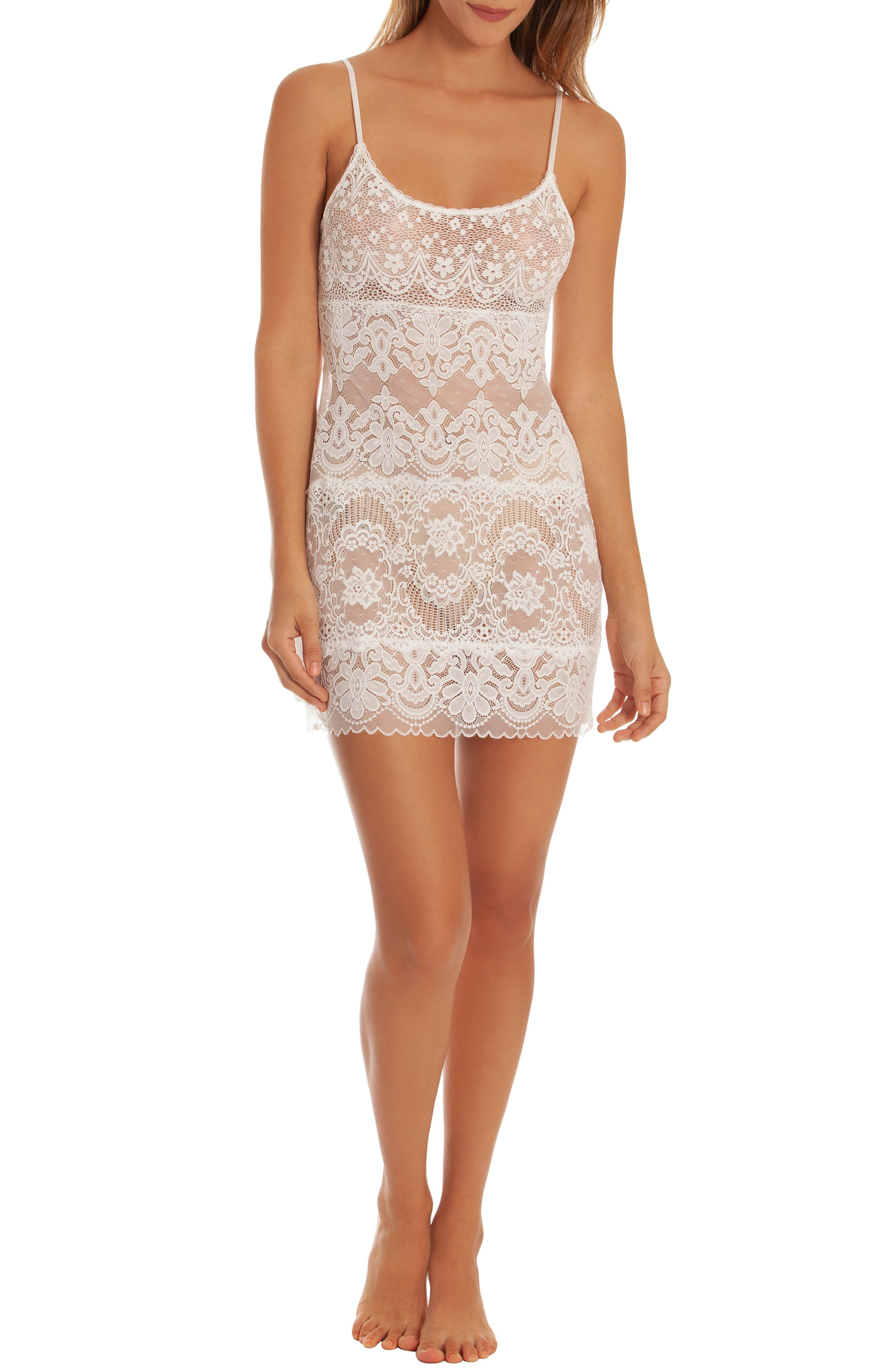 IN BLOOM BY JONQUIL, Lace Chemise, Alternate thumbnail 5, color, IVORY