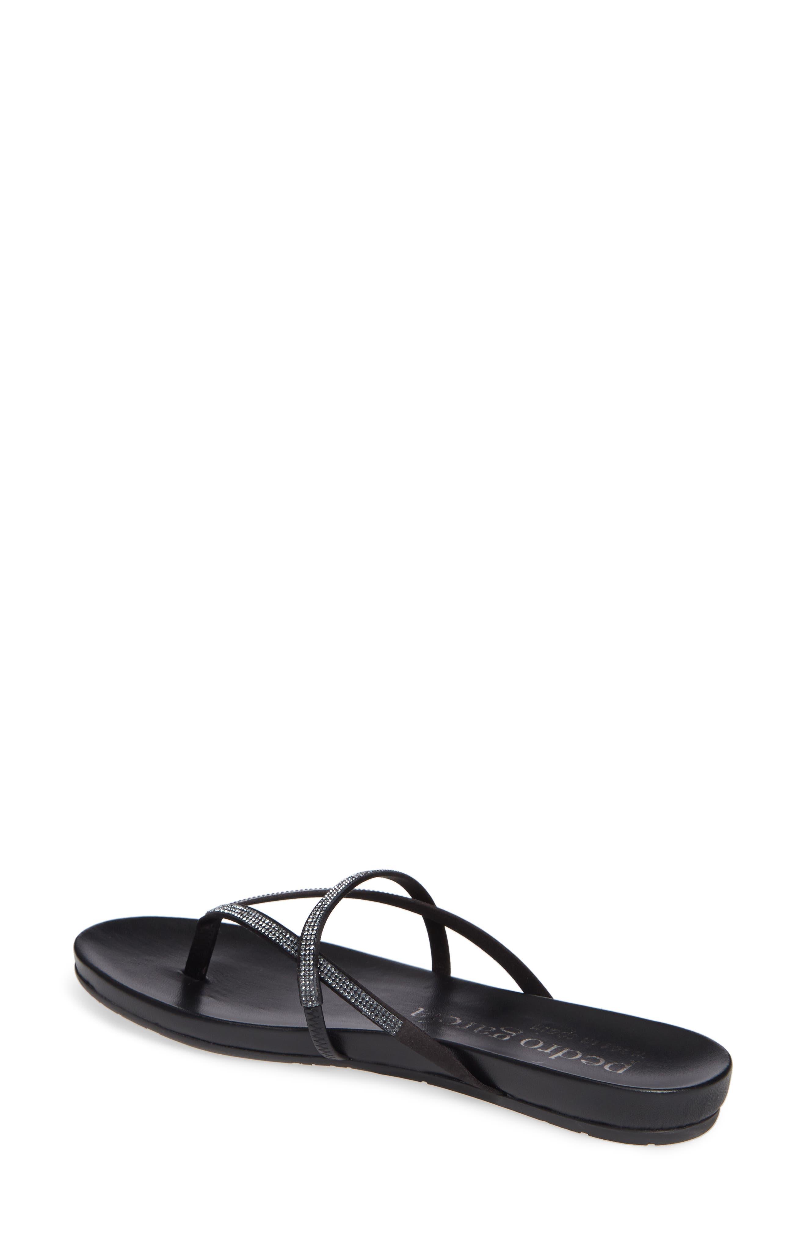 PEDRO GARCIA, Giulia Crystal Embellished Sandal, Alternate thumbnail 2, color, METEORITE SATIN