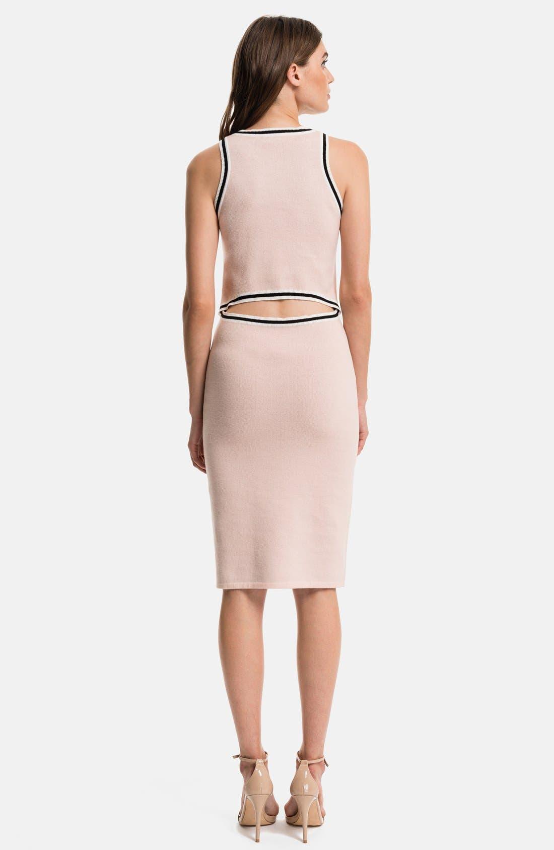 1.STATE, Flamingo Body-Con Dress, Alternate thumbnail 2, color, 636