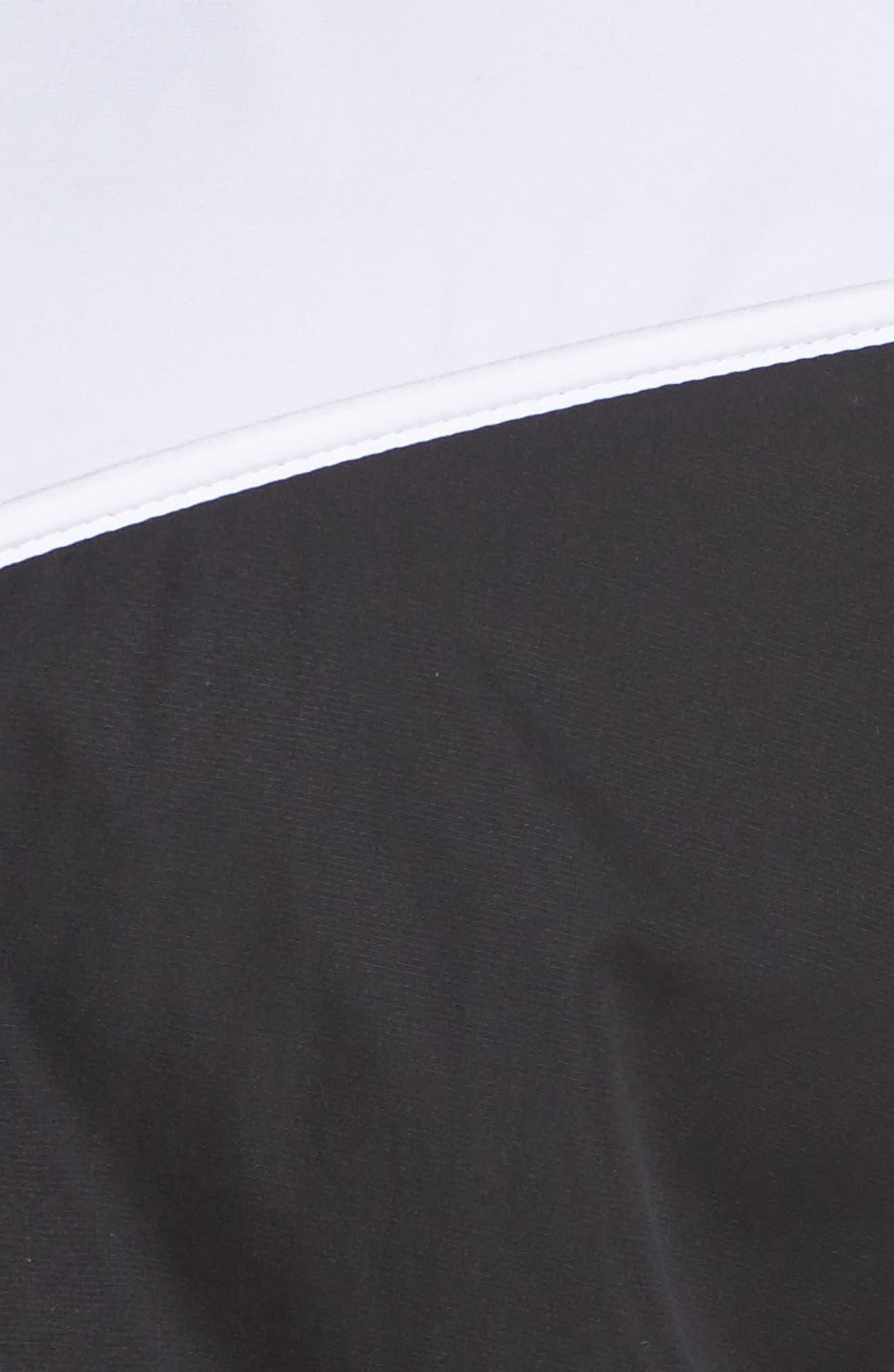 NIKE, Sportswear Windrunner Jacket, Alternate thumbnail 7, color, BLACK/ WHITE/ BLACK