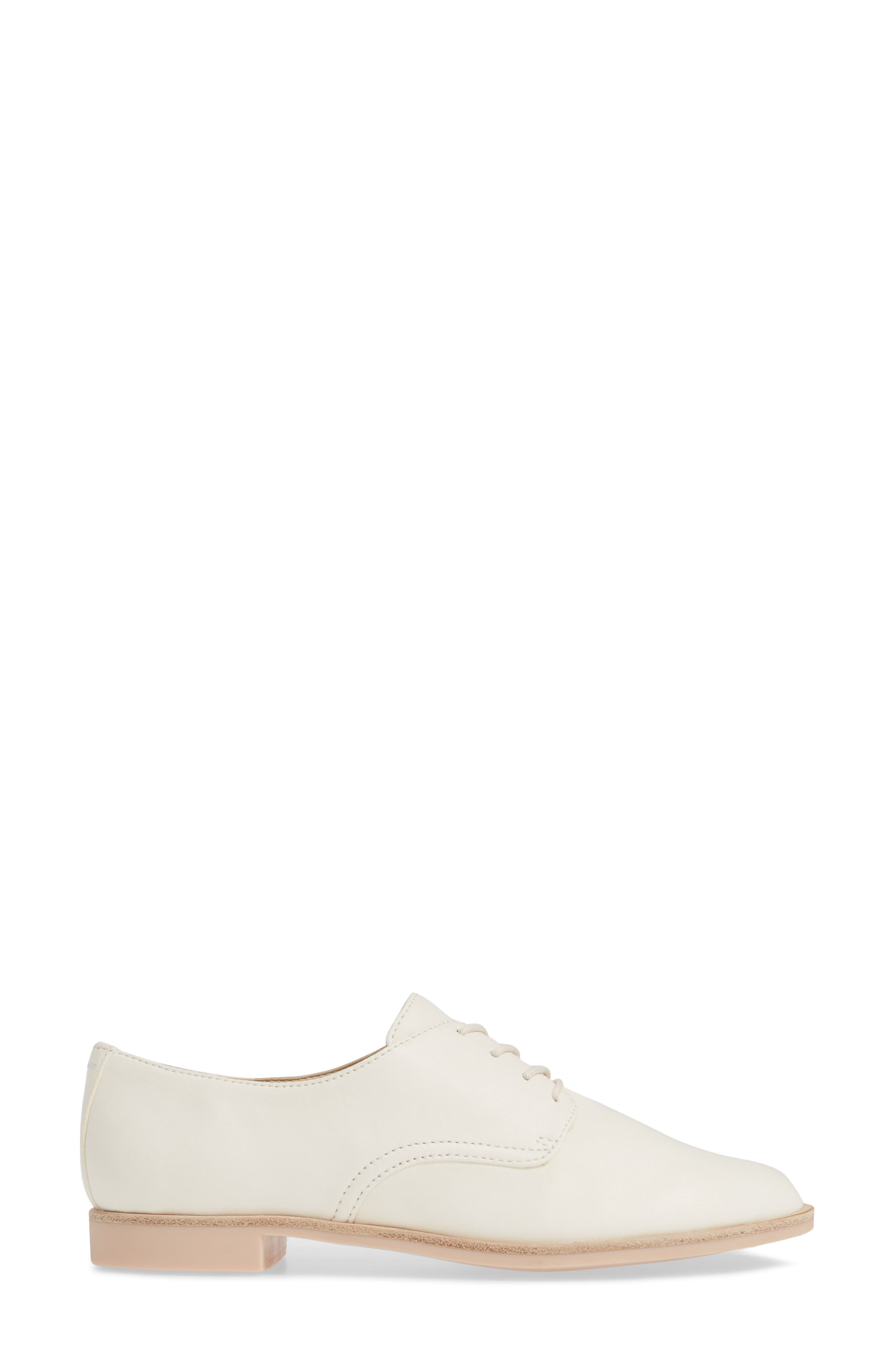 DOLCE VITA, Kyle Derby, Alternate thumbnail 3, color, OFF WHITE LEATHER