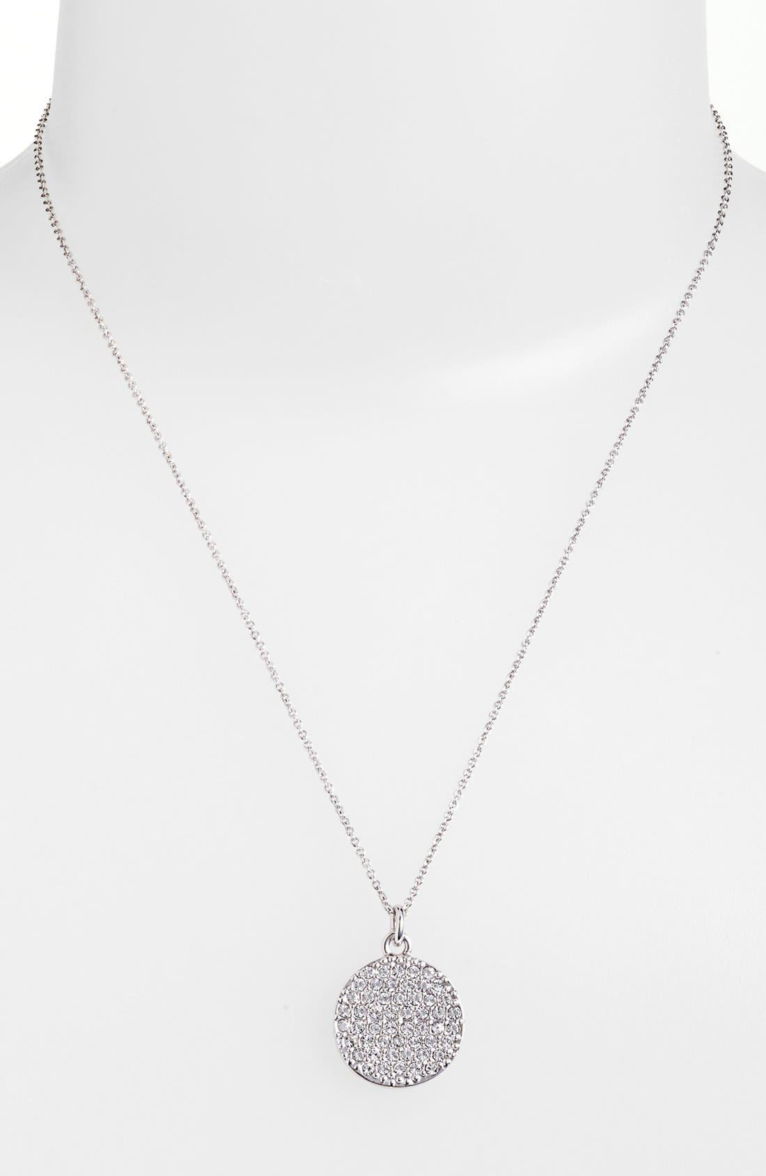 KATE SPADE NEW YORK, 'idiom - all that glitters' boxed pavé pendant necklace, Alternate thumbnail 2, color, 040